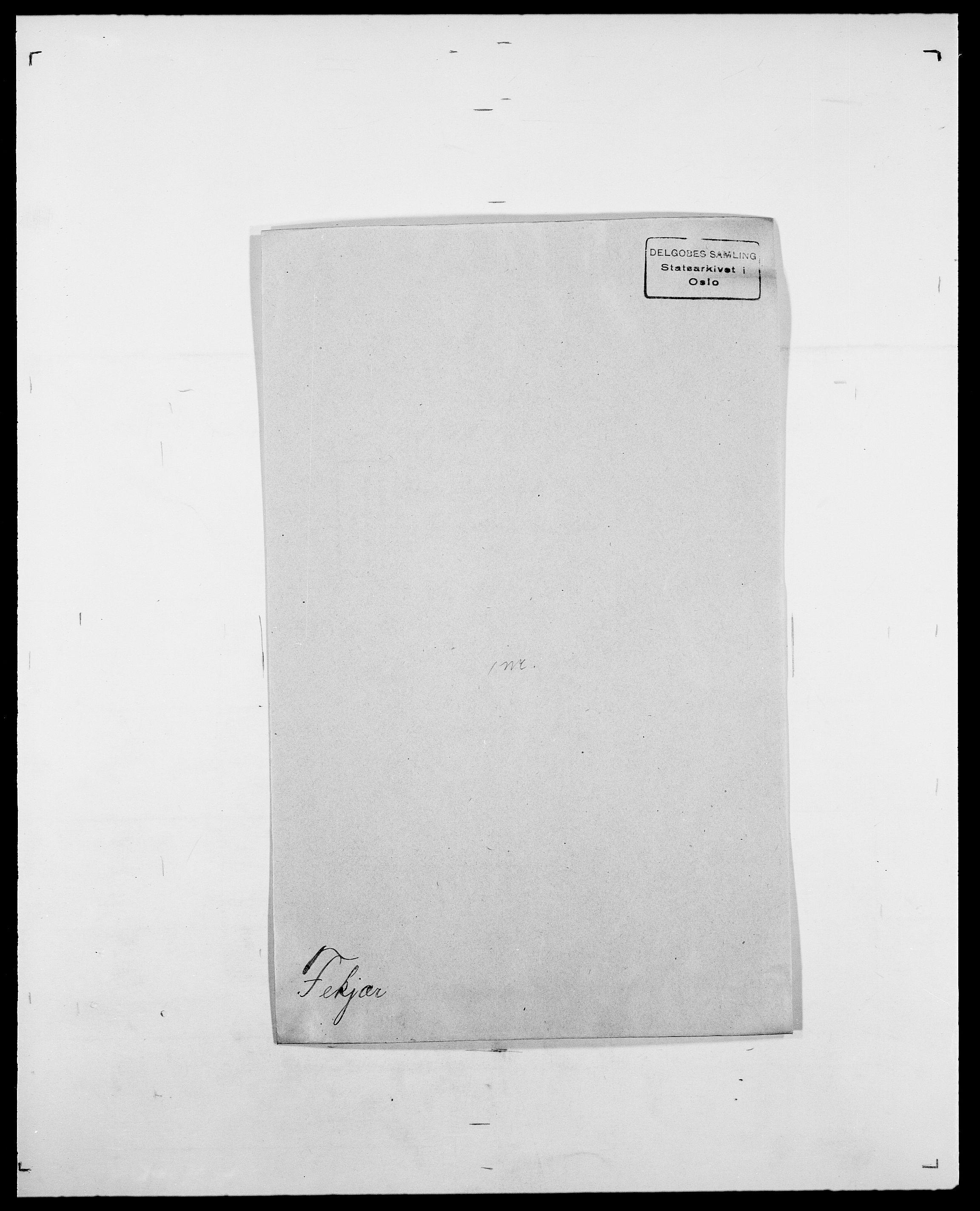 SAO, Delgobe, Charles Antoine - samling, D/Da/L0011: Fahlander - Flood, Flod, s. 322
