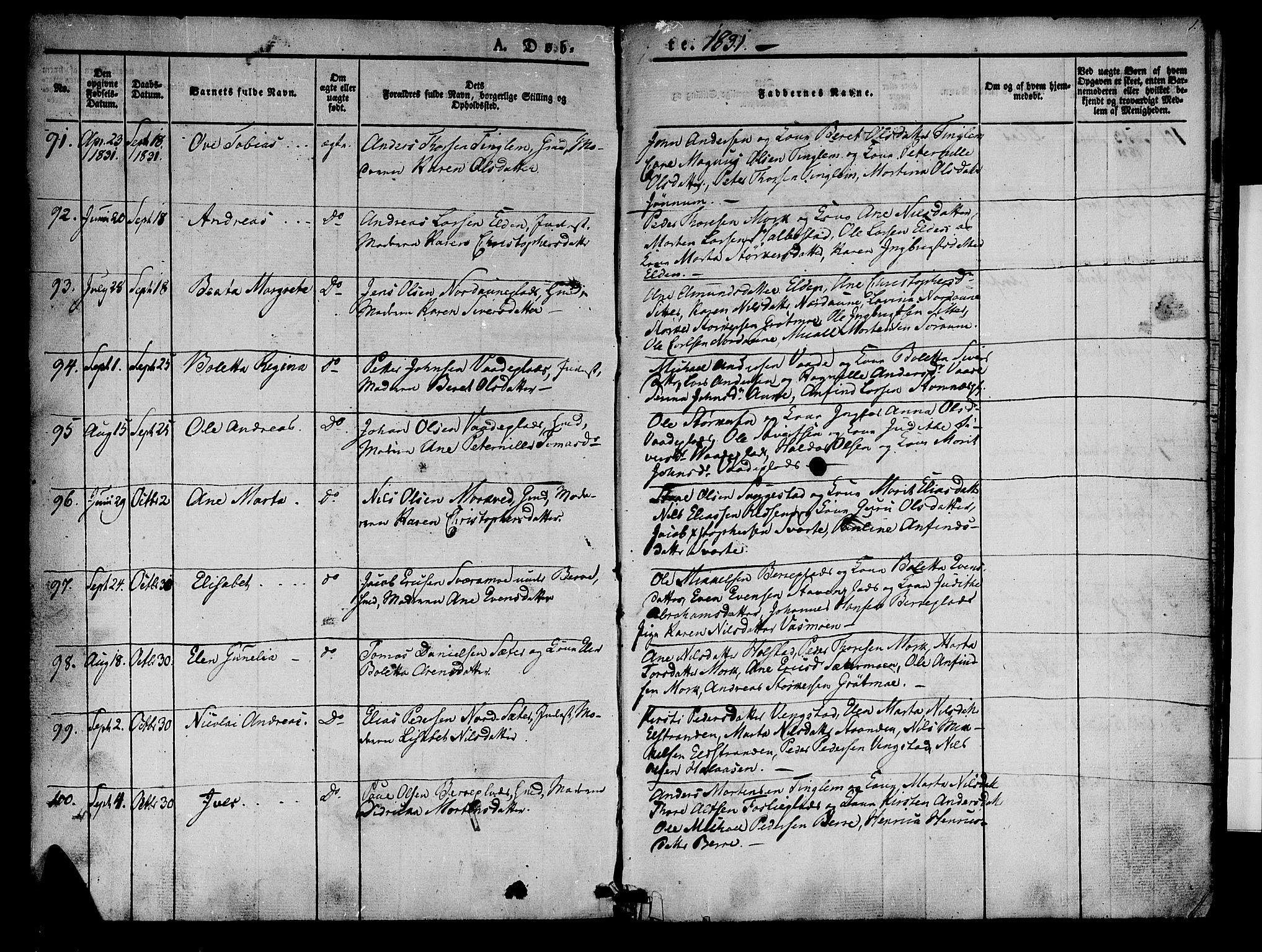 SAT, Ministerialprotokoller, klokkerbøker og fødselsregistre - Nord-Trøndelag, 741/L0391: Ministerialbok nr. 741A05, 1831-1836, s. 1