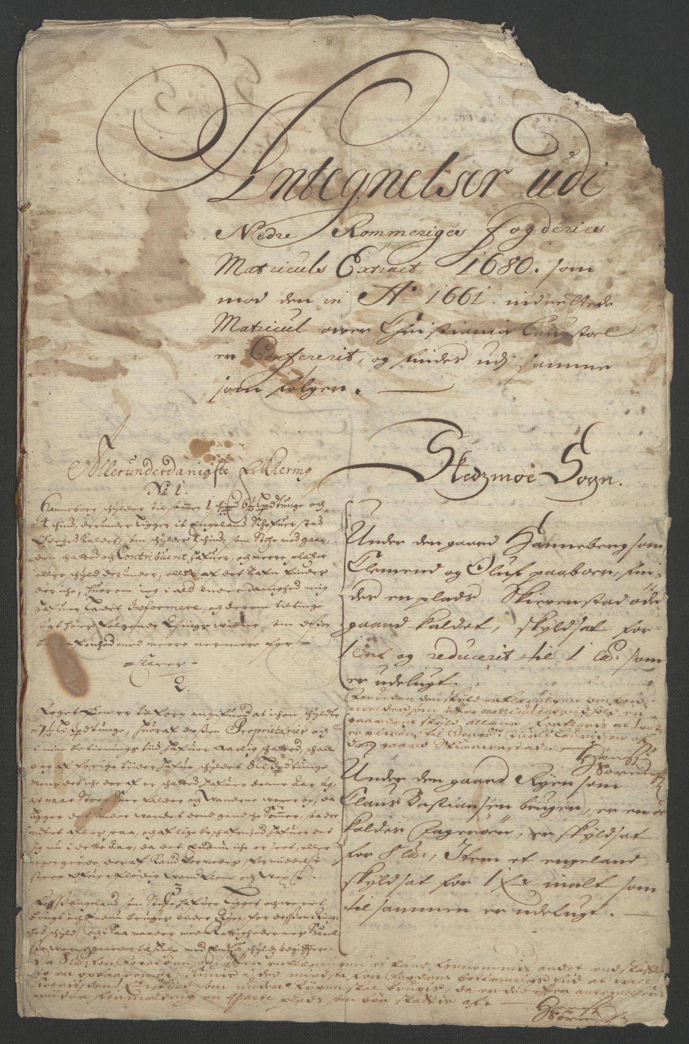 RA, Rentekammeret inntil 1814, Reviderte regnskaper, Fogderegnskap, R11/L0576: Fogderegnskap Nedre Romerike, 1682-1691, s. 36