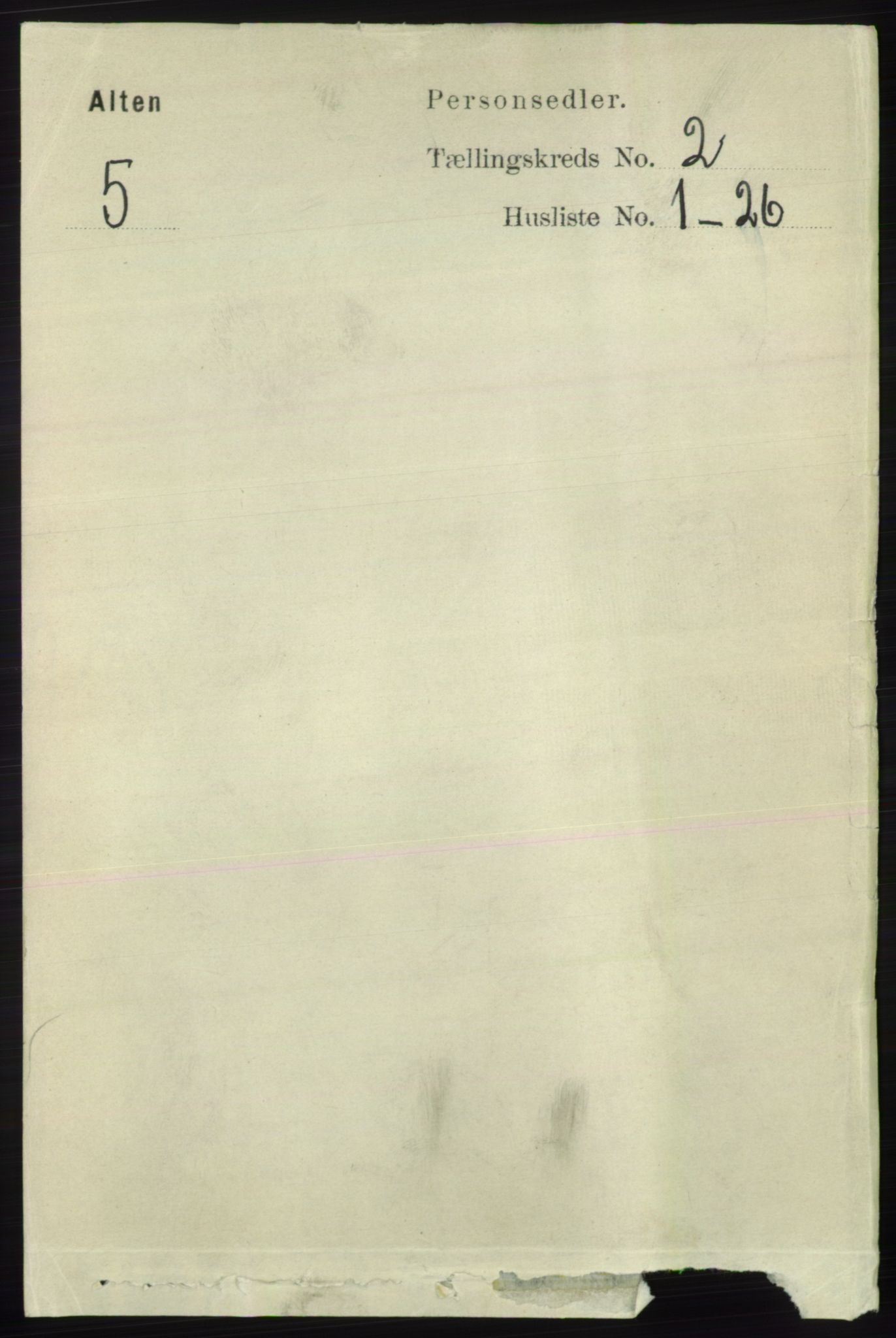 RA, Folketelling 1891 for 2012 Alta herred, 1891, s. 419