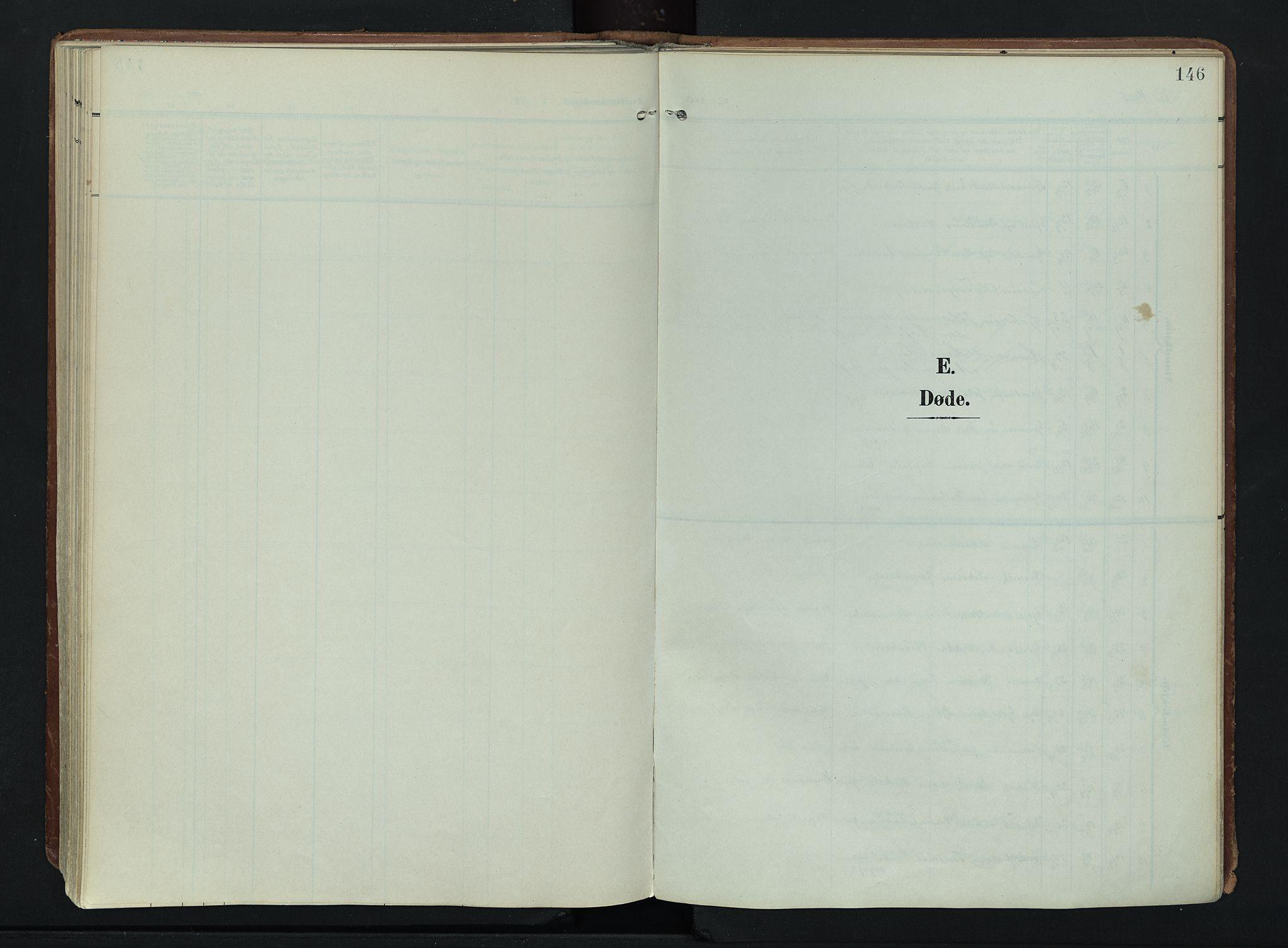 SAH, Søndre Land prestekontor, K/L0007: Ministerialbok nr. 7, 1905-1914, s. 146