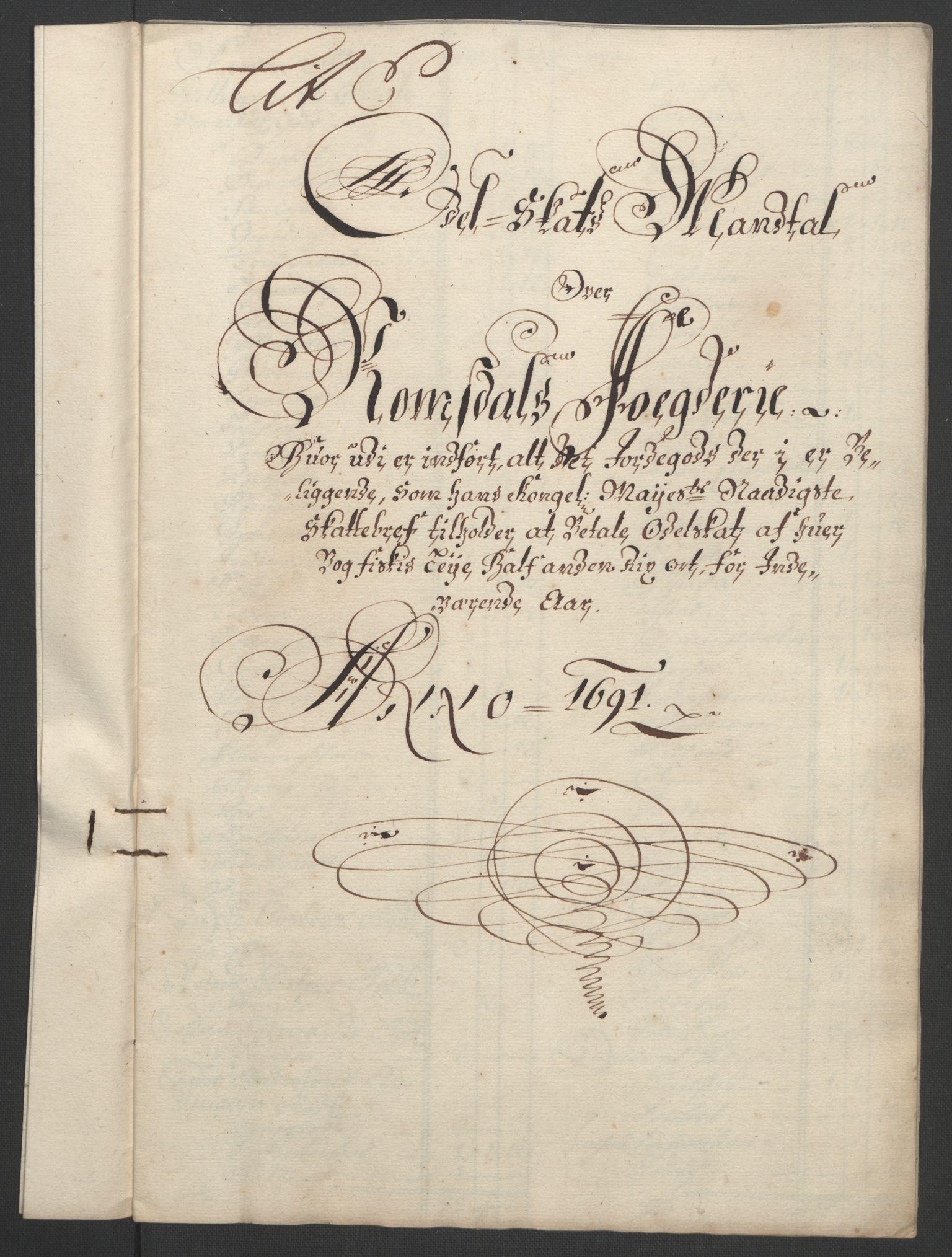 RA, Rentekammeret inntil 1814, Reviderte regnskaper, Fogderegnskap, R55/L3649: Fogderegnskap Romsdal, 1690-1691, s. 257