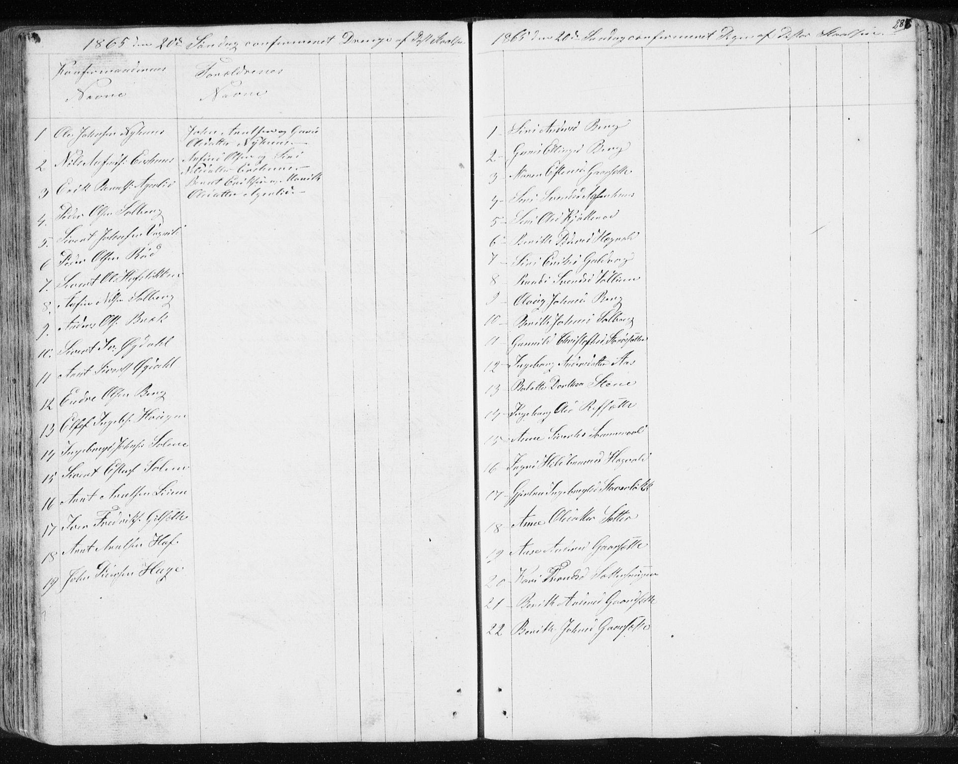 SAT, Ministerialprotokoller, klokkerbøker og fødselsregistre - Sør-Trøndelag, 689/L1043: Klokkerbok nr. 689C02, 1816-1892, s. 286