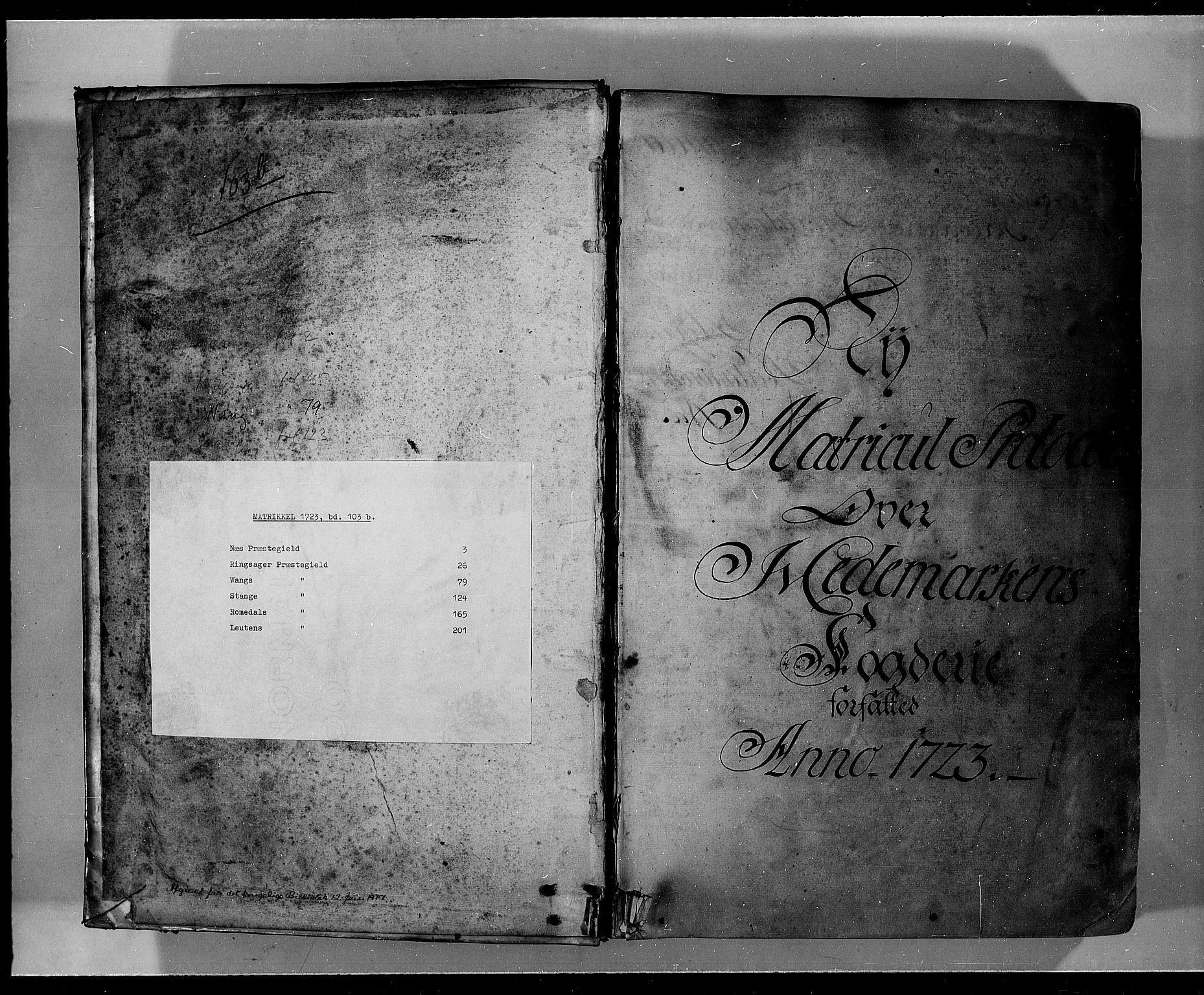 RA, Rentekammeret inntil 1814, Realistisk ordnet avdeling, Fb/L0008b: Ullerål allmenning, 1723, s. upaginert