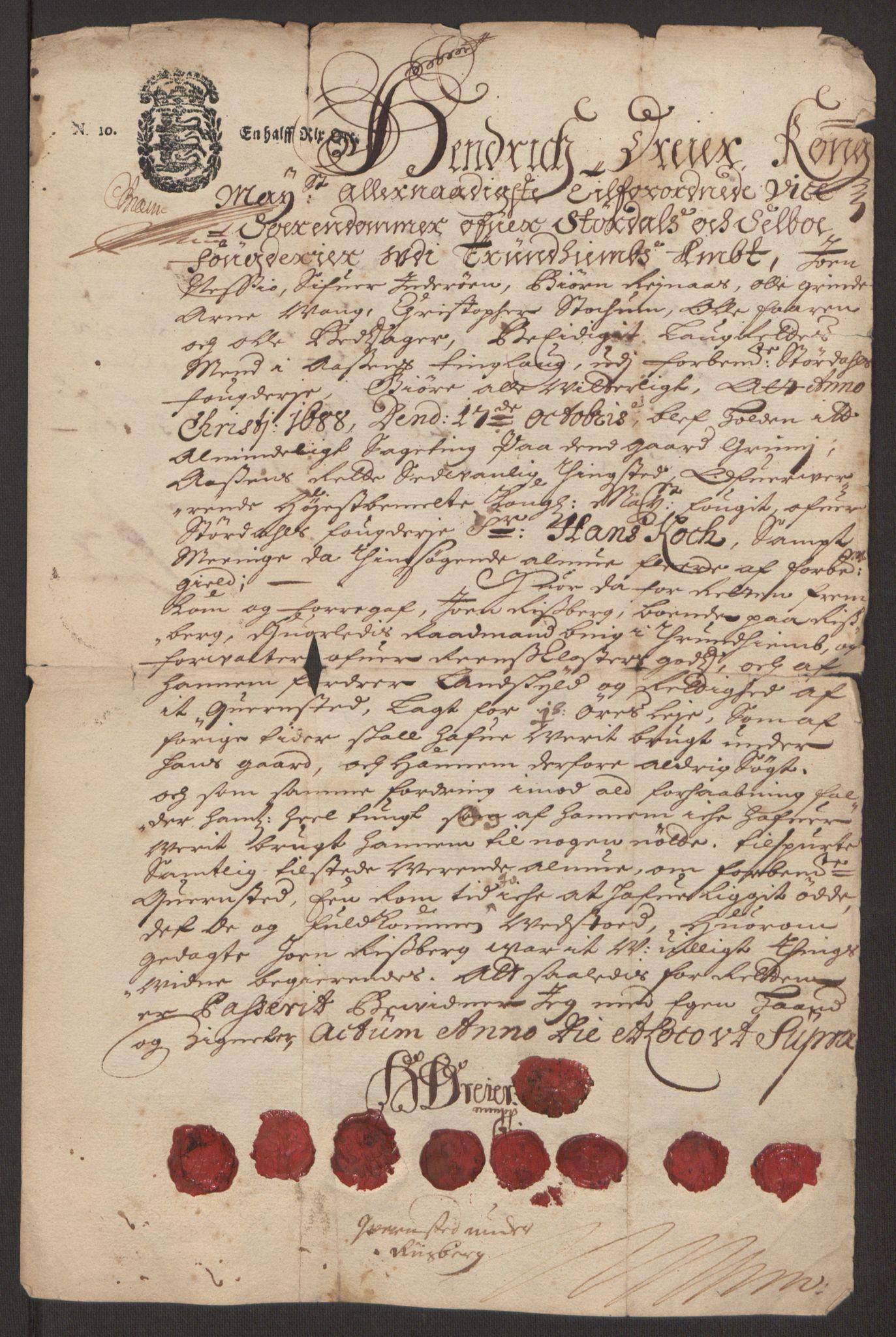 RA, Rentekammeret inntil 1814, Reviderte regnskaper, Fogderegnskap, R62/L4186: Fogderegnskap Stjørdal og Verdal, 1693-1694, s. 274