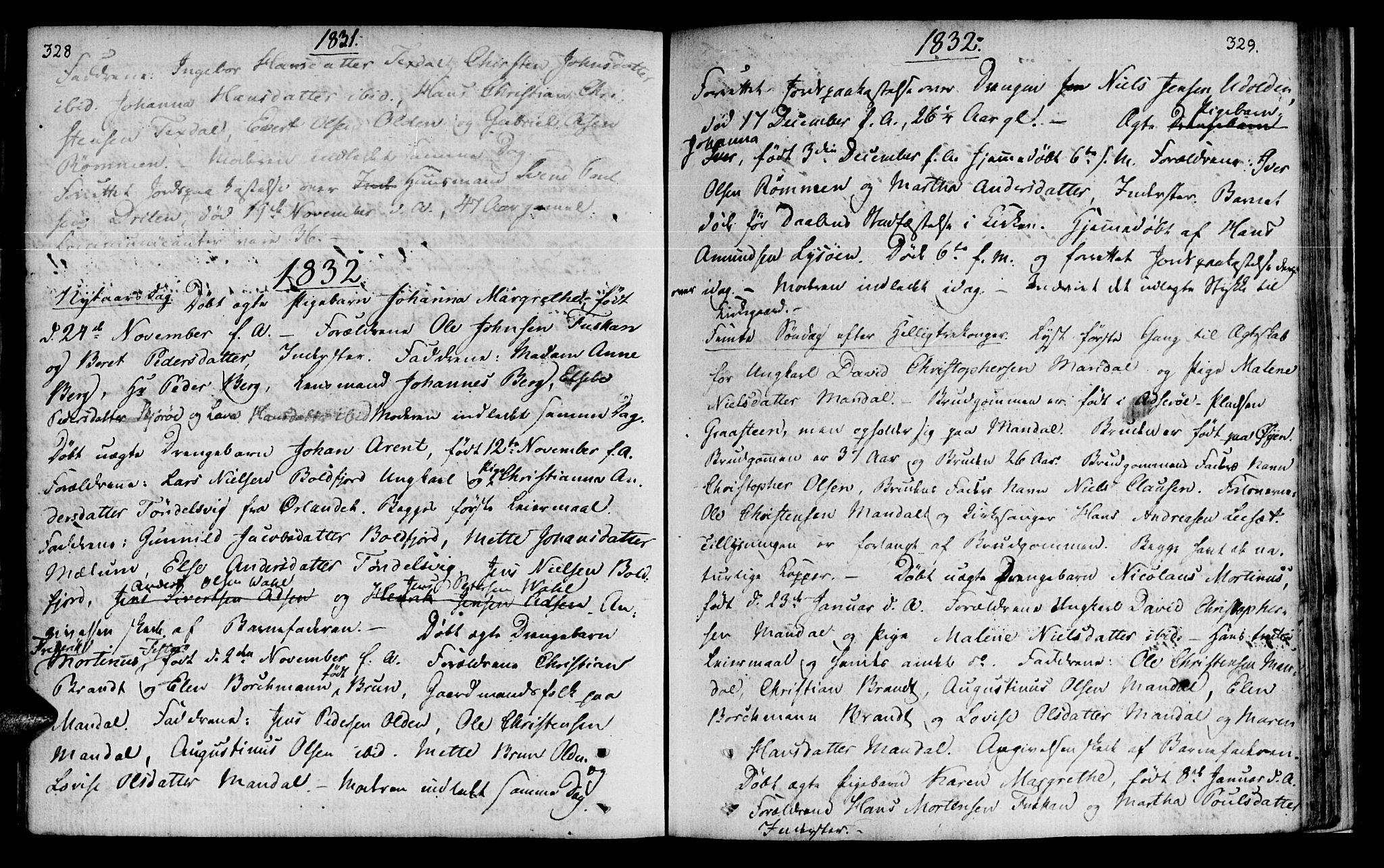 SAT, Ministerialprotokoller, klokkerbøker og fødselsregistre - Sør-Trøndelag, 655/L0674: Ministerialbok nr. 655A03, 1802-1826, s. 328-329