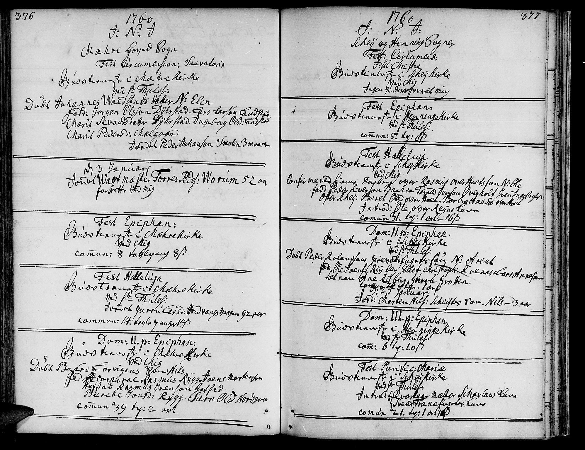 SAT, Ministerialprotokoller, klokkerbøker og fødselsregistre - Nord-Trøndelag, 735/L0330: Ministerialbok nr. 735A01, 1740-1766, s. 376-377