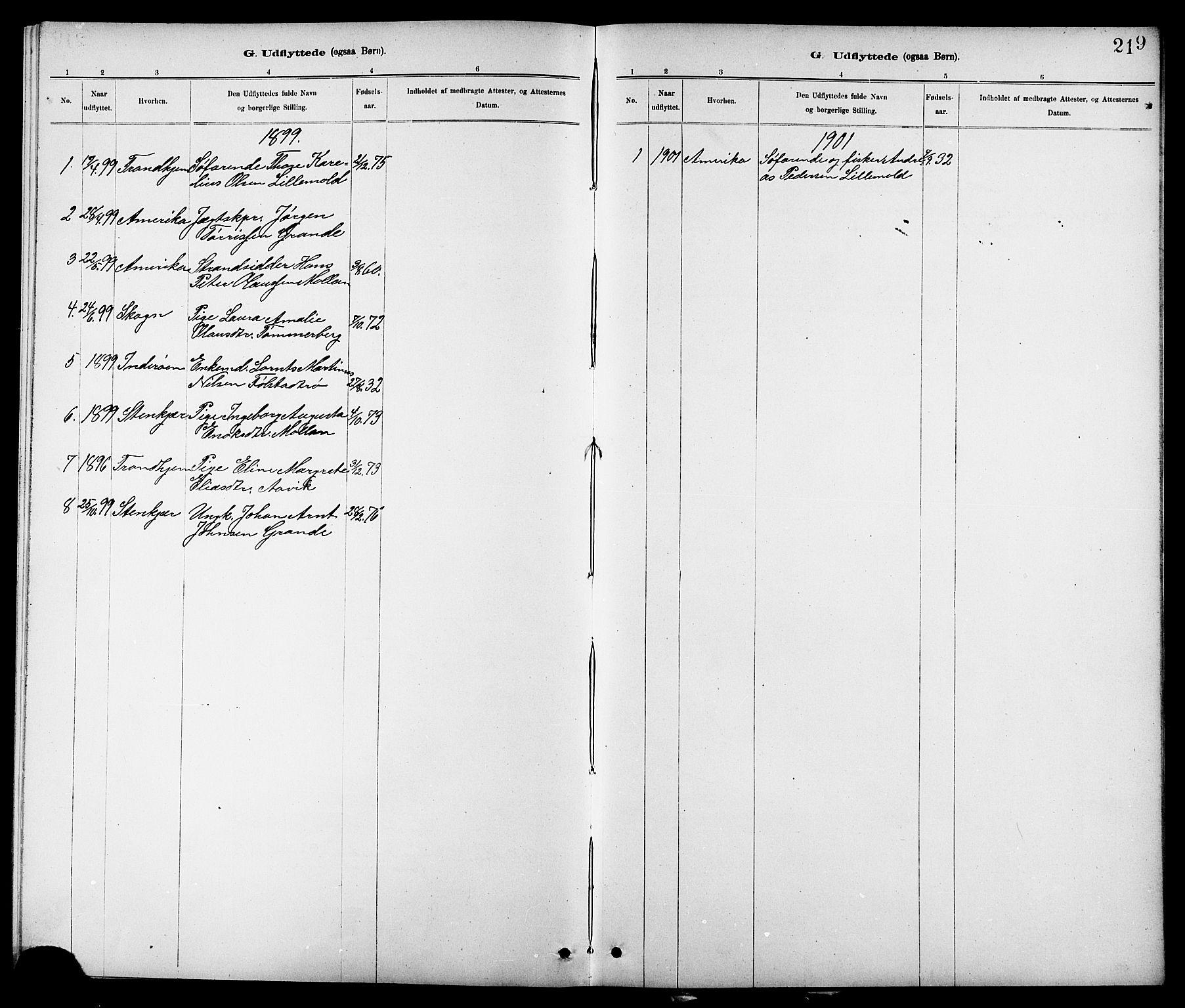 SAT, Ministerialprotokoller, klokkerbøker og fødselsregistre - Nord-Trøndelag, 744/L0423: Klokkerbok nr. 744C02, 1886-1905, s. 219