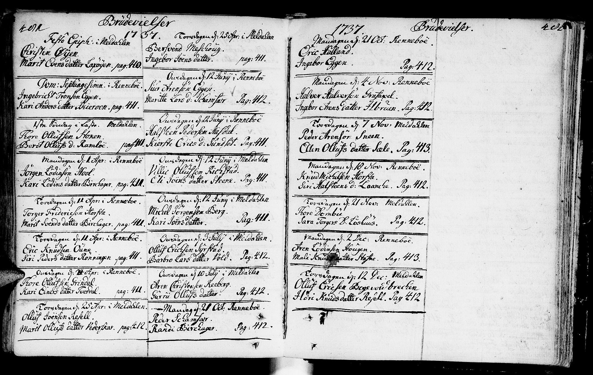 SAT, Ministerialprotokoller, klokkerbøker og fødselsregistre - Sør-Trøndelag, 672/L0850: Ministerialbok nr. 672A03, 1725-1751, s. 481-482