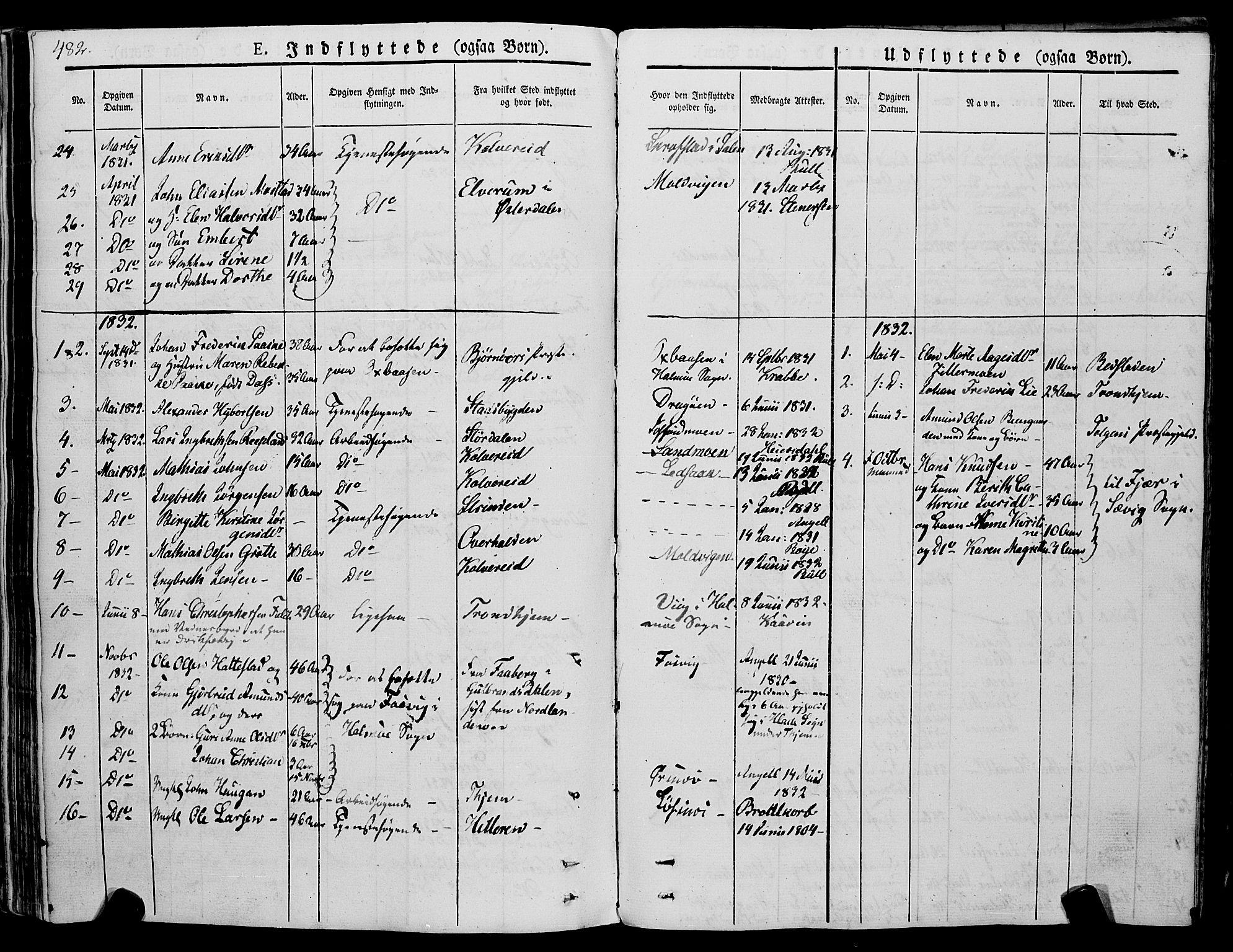 SAT, Ministerialprotokoller, klokkerbøker og fødselsregistre - Nord-Trøndelag, 773/L0614: Ministerialbok nr. 773A05, 1831-1856, s. 482