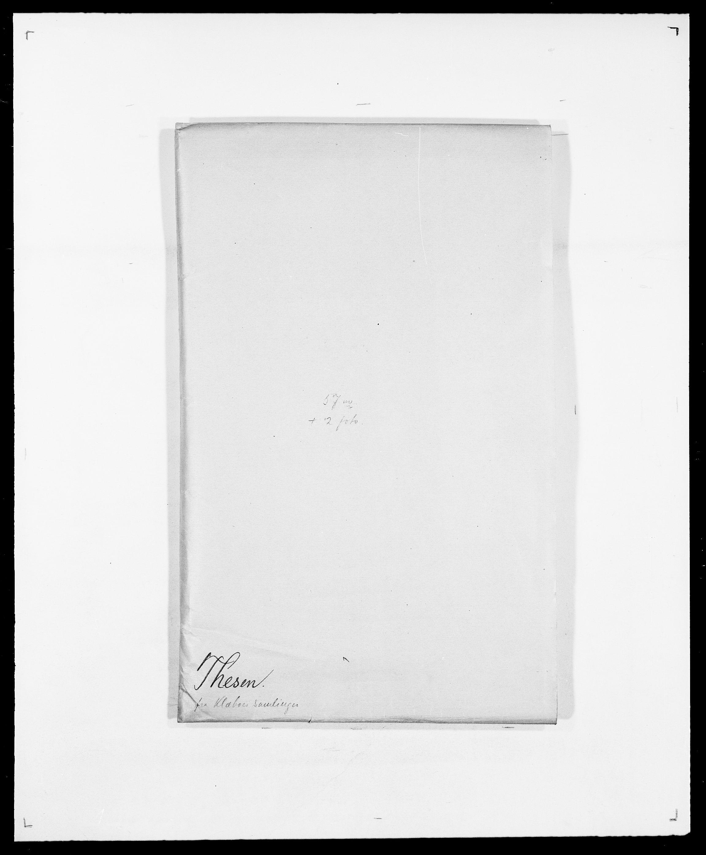 SAO, Delgobe, Charles Antoine - samling, D/Da/L0038: Svanenskjold - Thornsohn, s. 581