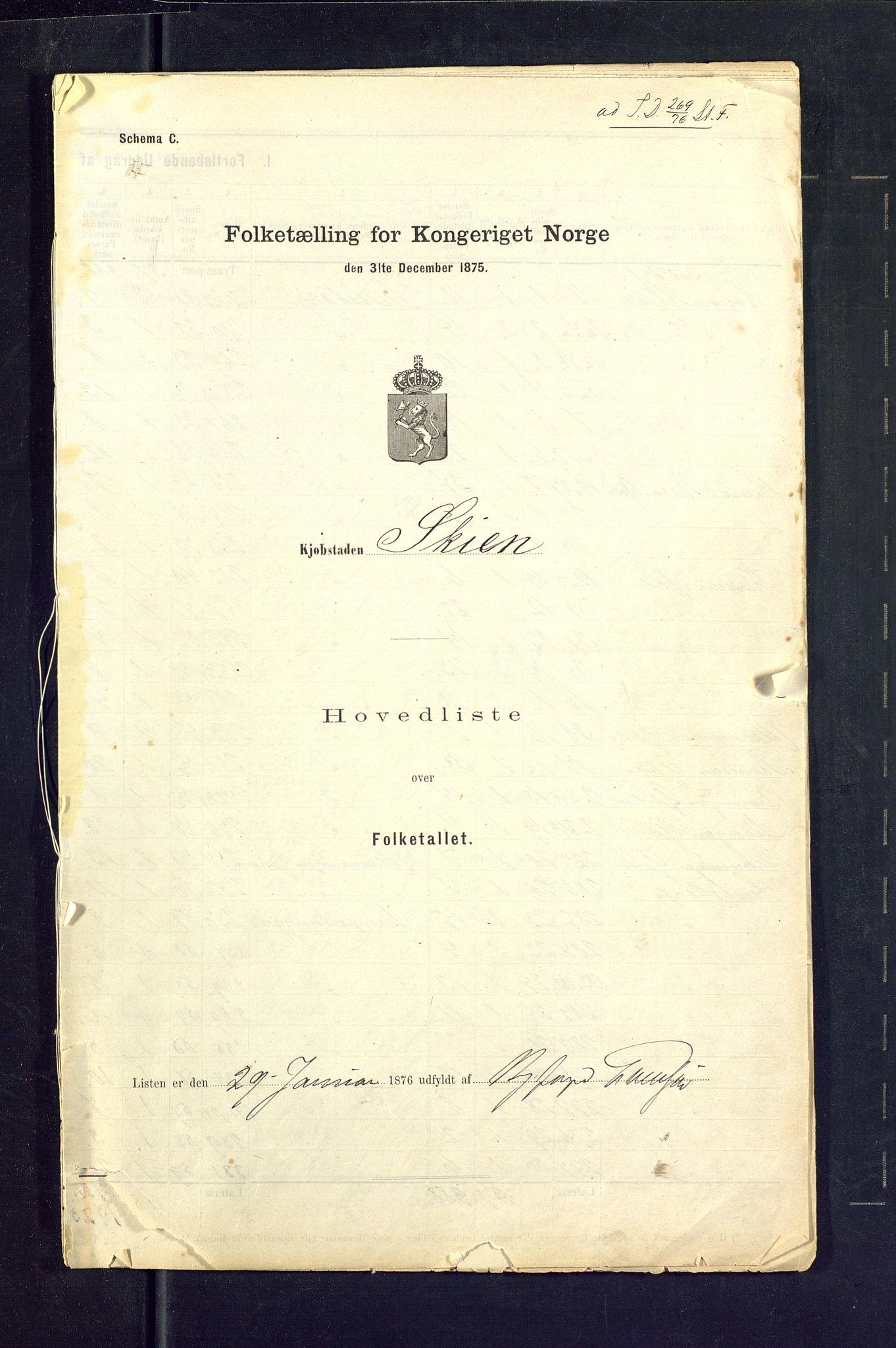 SAKO, Folketelling 1875 for 0806P Skien prestegjeld, 1875, s. 2