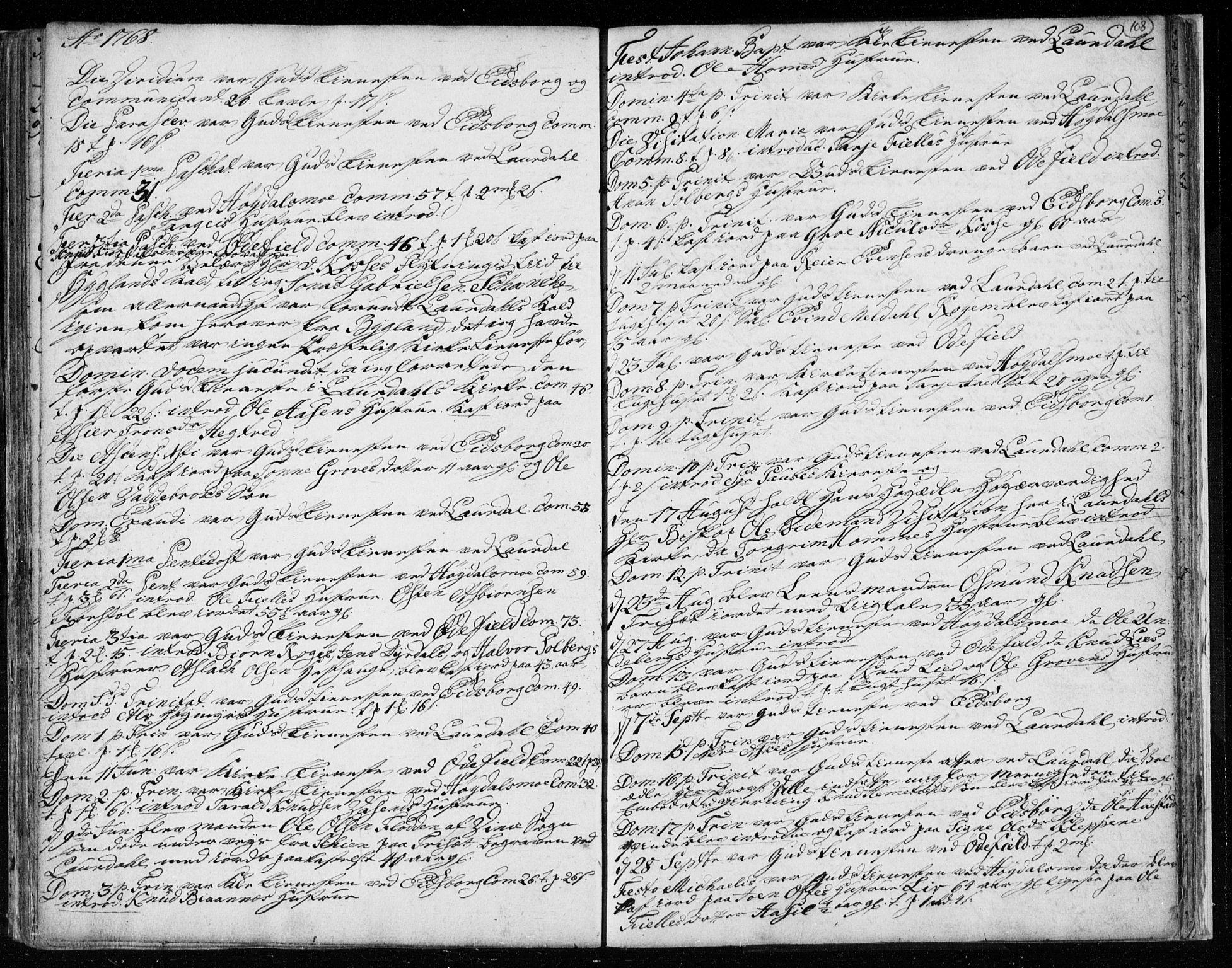 SAKO, Lårdal kirkebøker, F/Fa/L0003: Ministerialbok nr. I 3, 1754-1790, s. 108