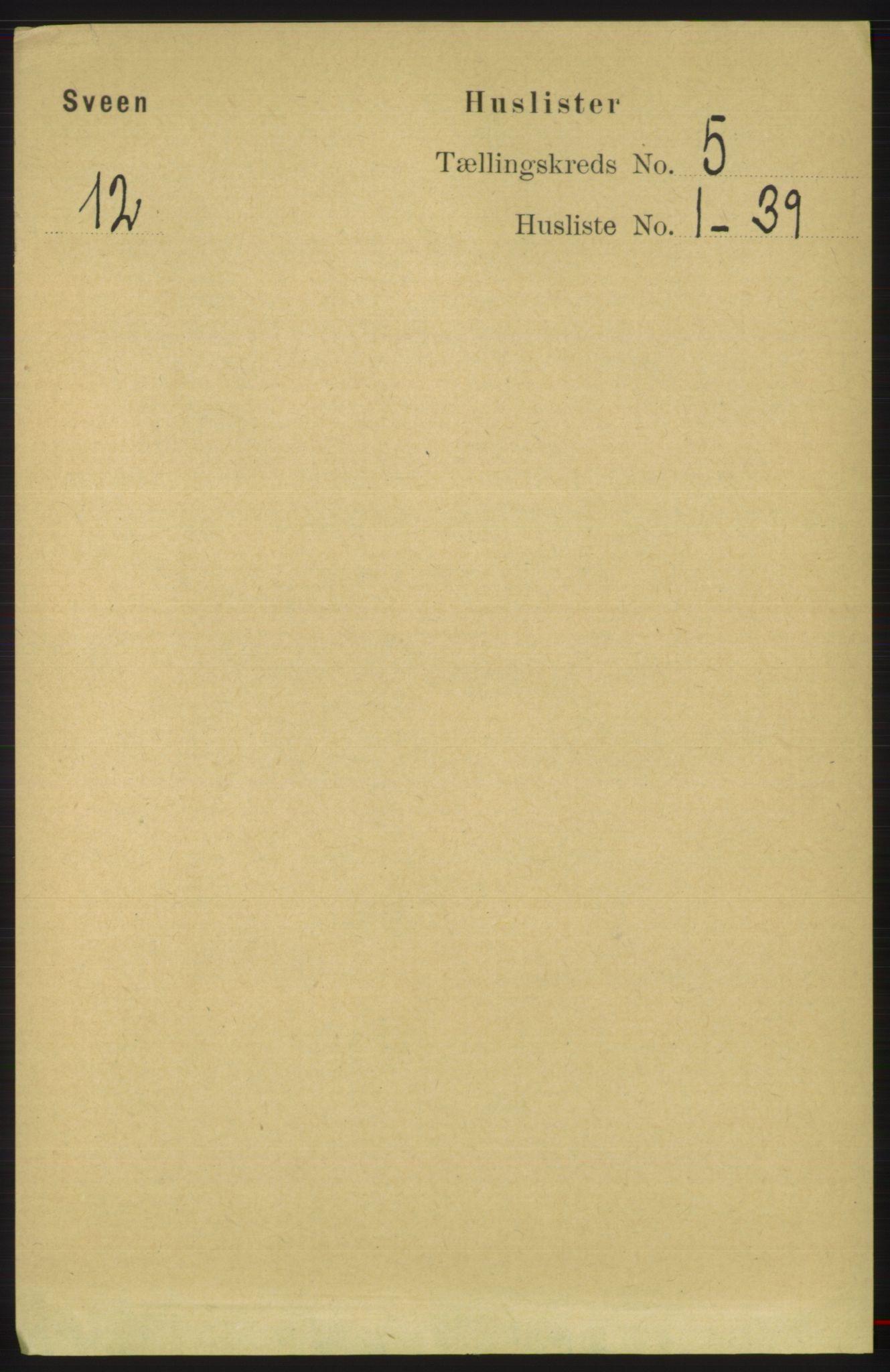 RA, Folketelling 1891 for 1216 Sveio herred, 1891, s. 1410