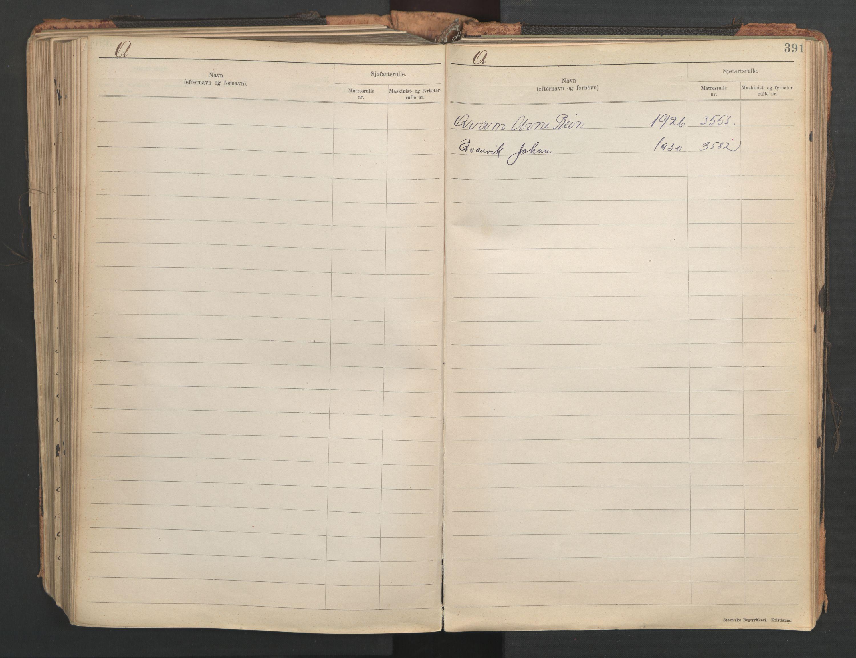 SAST, Stavanger sjømannskontor, F/Fb/Fba/L0005: Navneregister sjøfartsruller, etternavnsregister til hovedrulle 1921, 1921-1947, s. 97