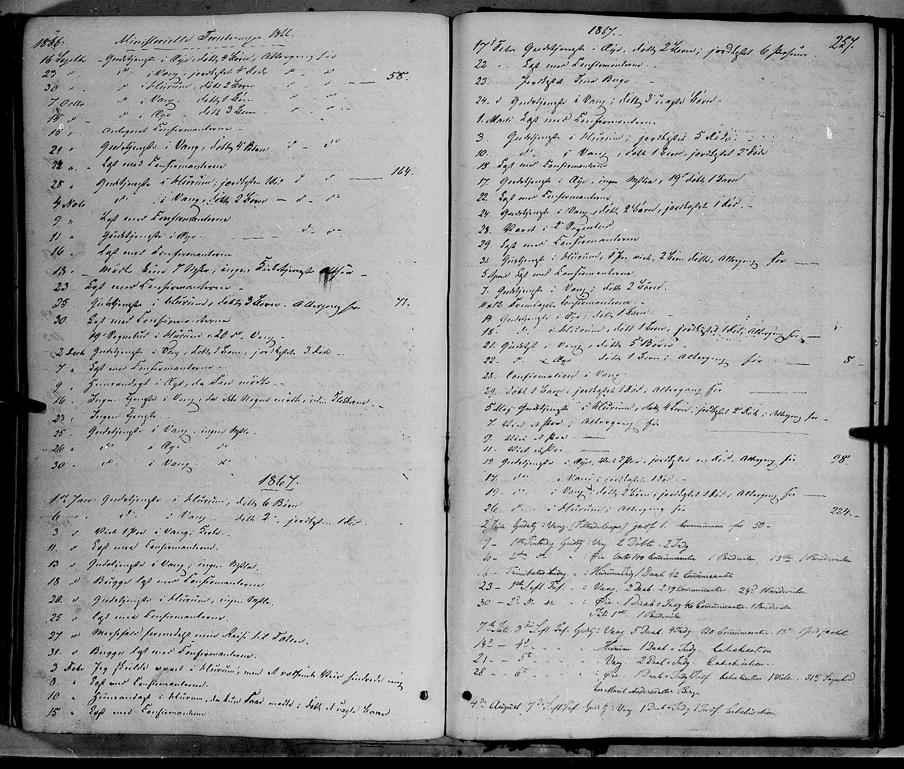 SAH, Vang prestekontor, Valdres, Ministerialbok nr. 7, 1865-1881, s. 257