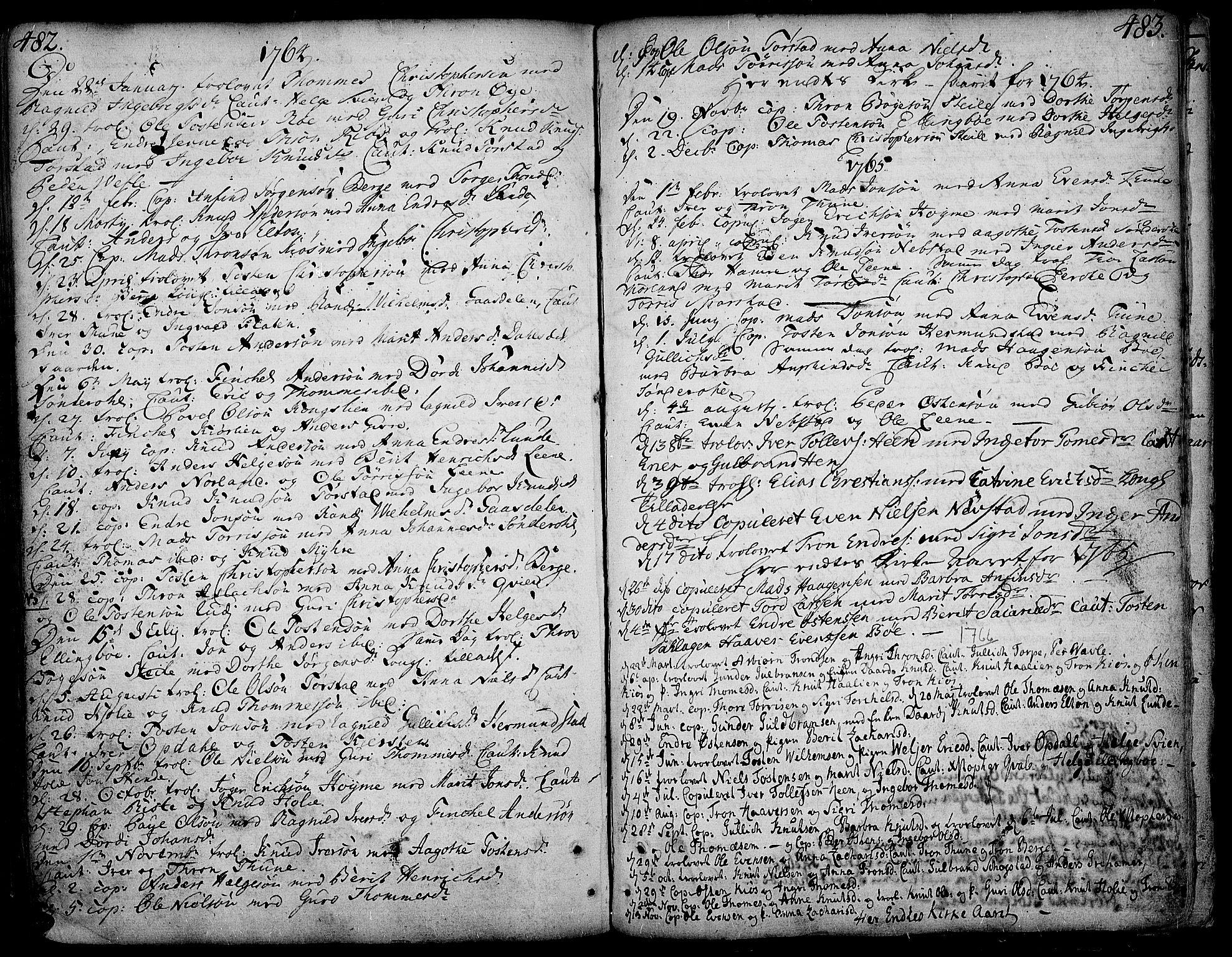 SAH, Vang prestekontor, Valdres, Ministerialbok nr. 1, 1730-1796, s. 482-483