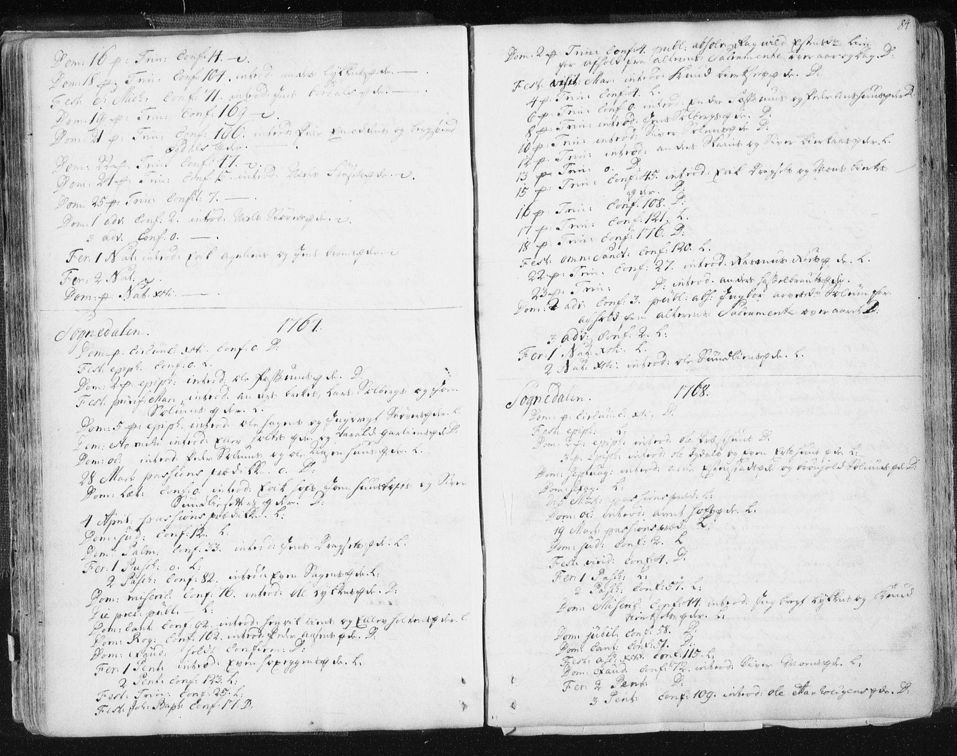 SAT, Ministerialprotokoller, klokkerbøker og fødselsregistre - Sør-Trøndelag, 687/L0991: Ministerialbok nr. 687A02, 1747-1790, s. 84