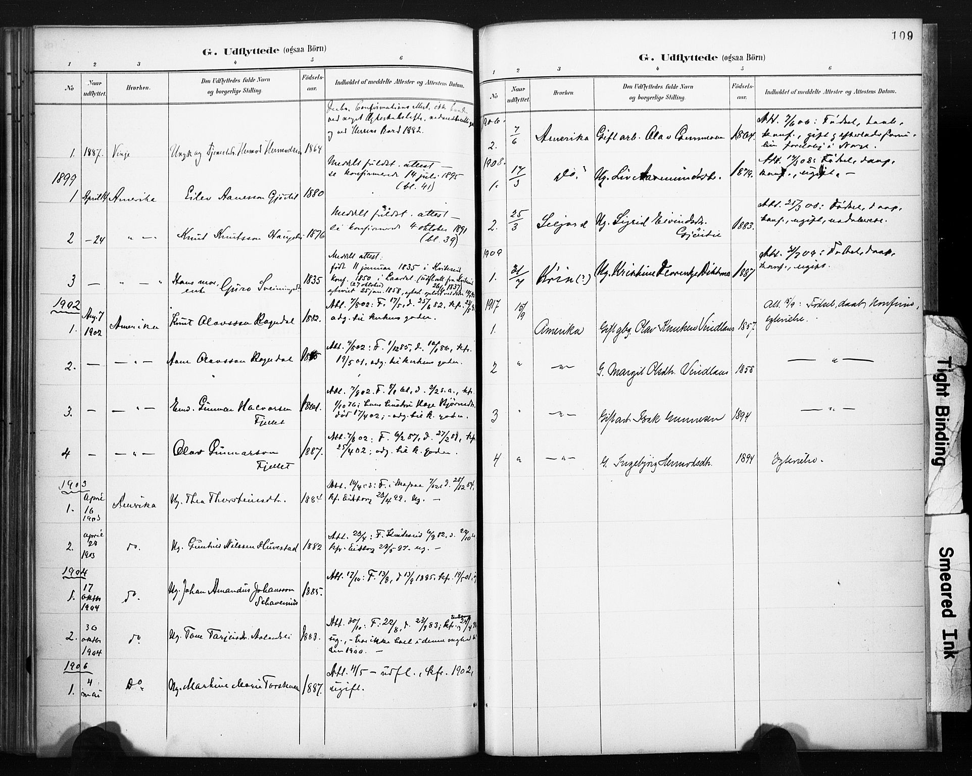 SAKO, Lårdal kirkebøker, F/Fb/L0002: Ministerialbok nr. II 2, 1887-1918, s. 109