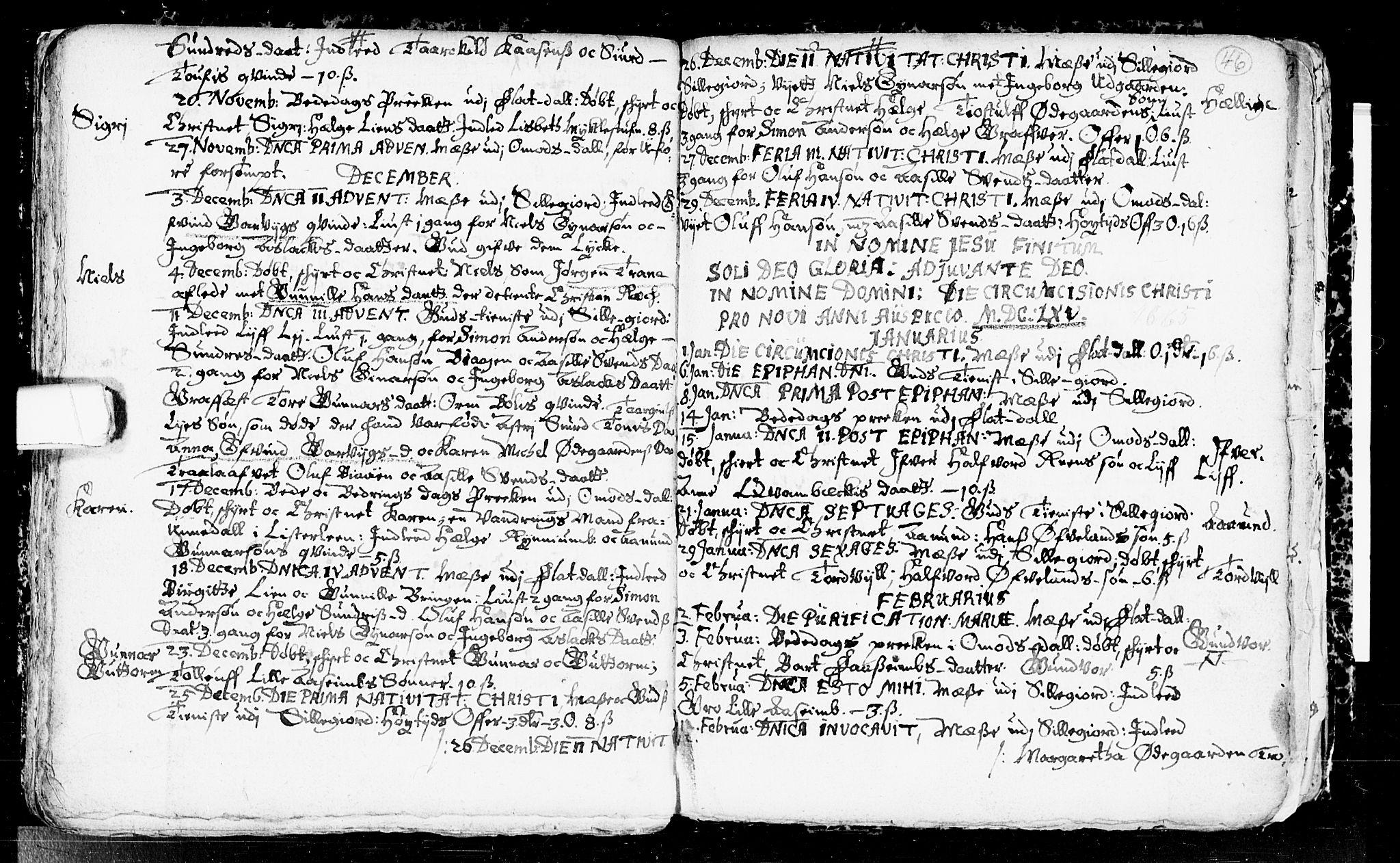 SAKO, Seljord kirkebøker, F/Fa/L0001: Ministerialbok nr. I 1, 1654-1686, s. 46