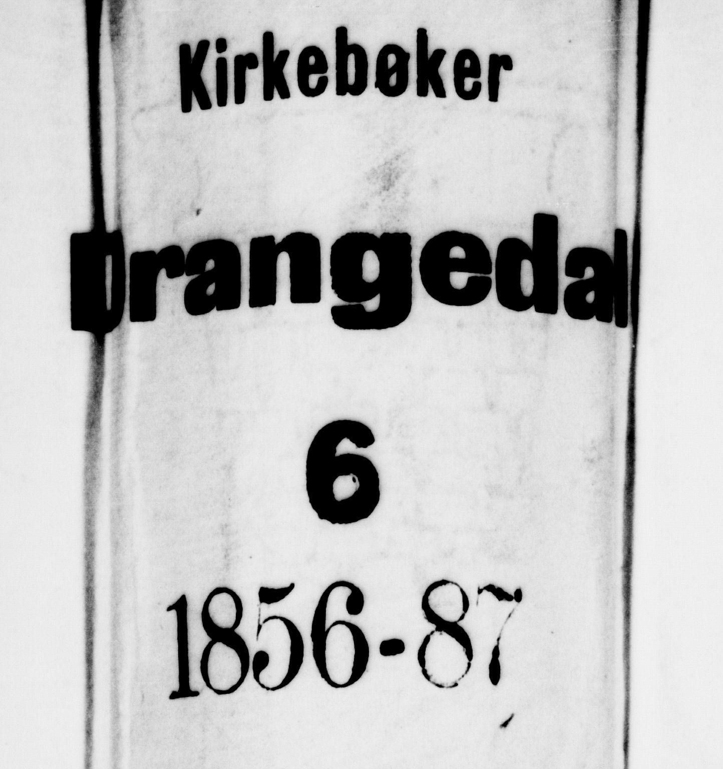 SAKO, Drangedal kirkebøker, G/Ga/L0002: Klokkerbok nr. I 2, 1856-1887