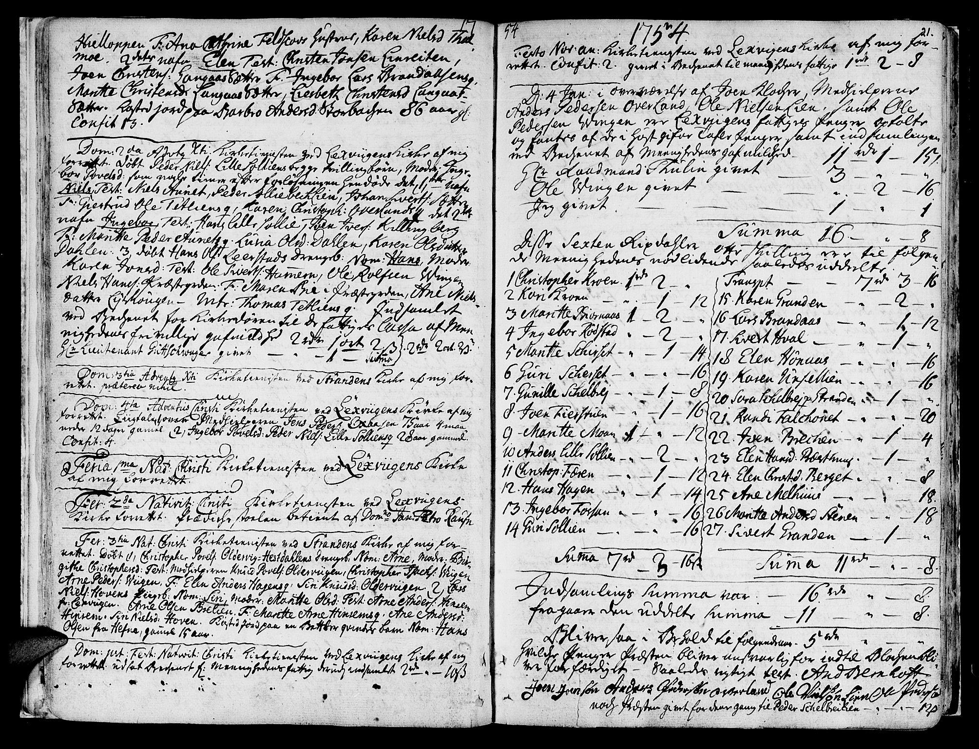 SAT, Ministerialprotokoller, klokkerbøker og fødselsregistre - Nord-Trøndelag, 701/L0003: Ministerialbok nr. 701A03, 1751-1783, s. 21