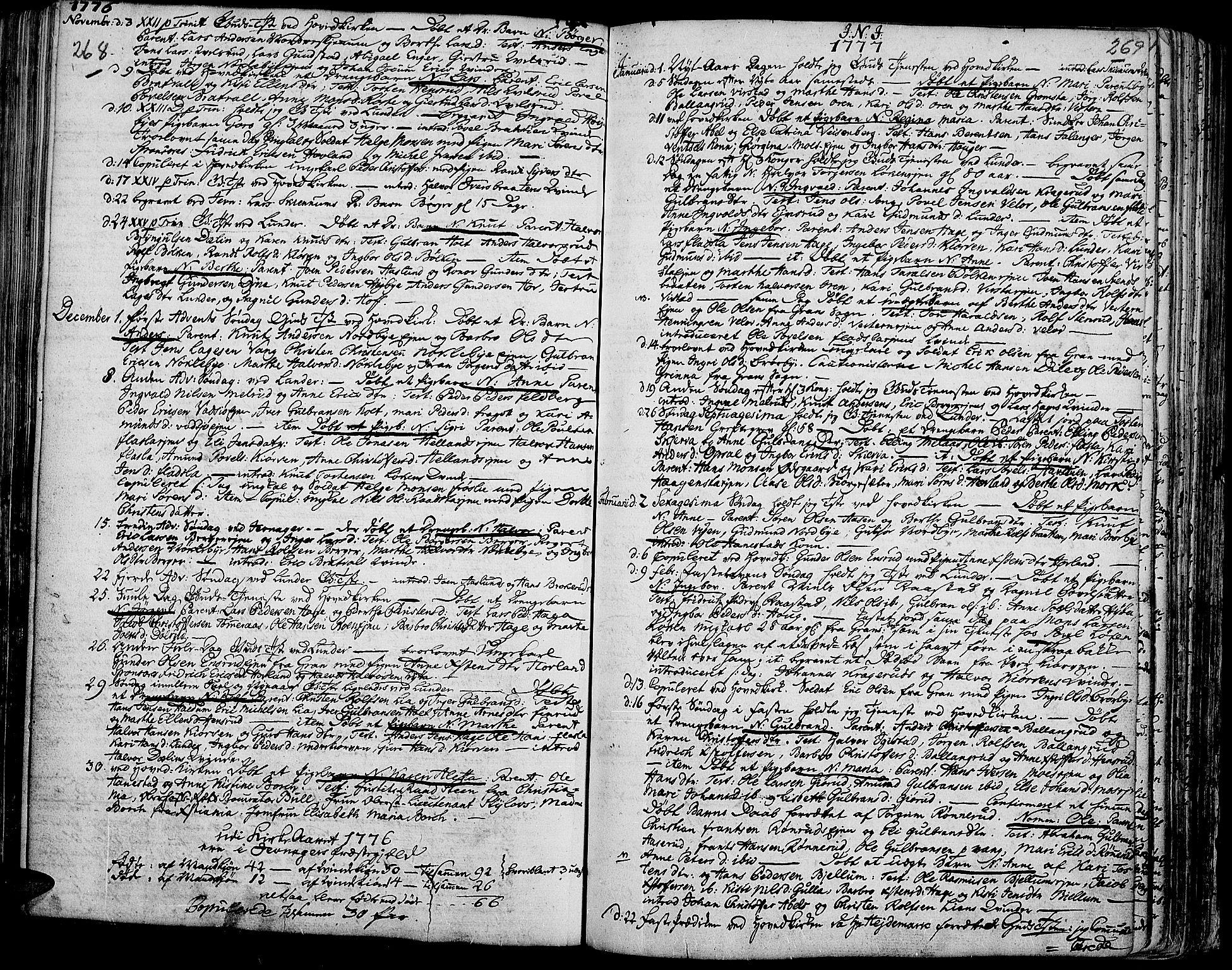 SAH, Jevnaker prestekontor, Ministerialbok nr. 3, 1752-1799, s. 268-269