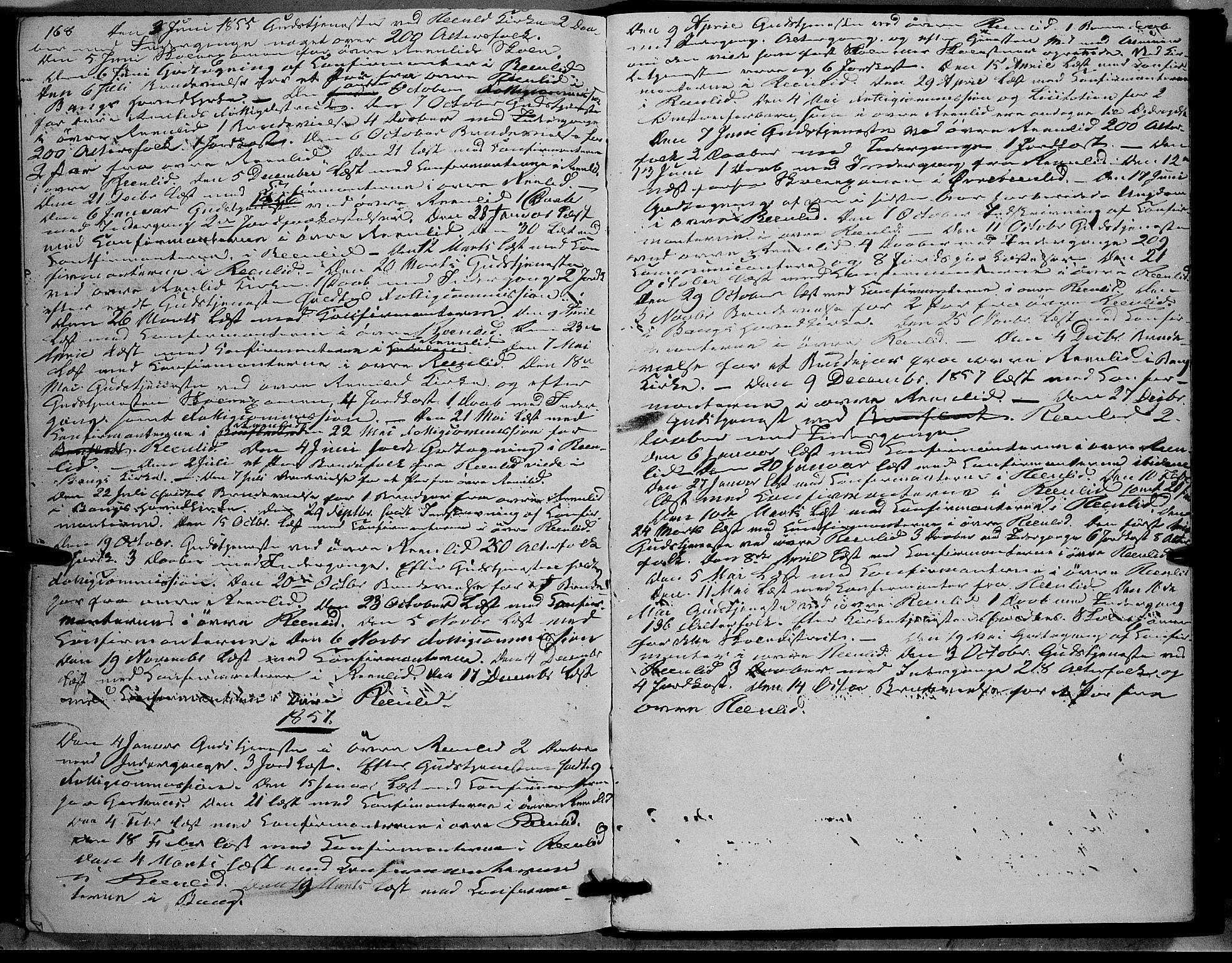 SAH, Sør-Aurdal prestekontor, Ministerialbok nr. 6, 1849-1876, s. 168