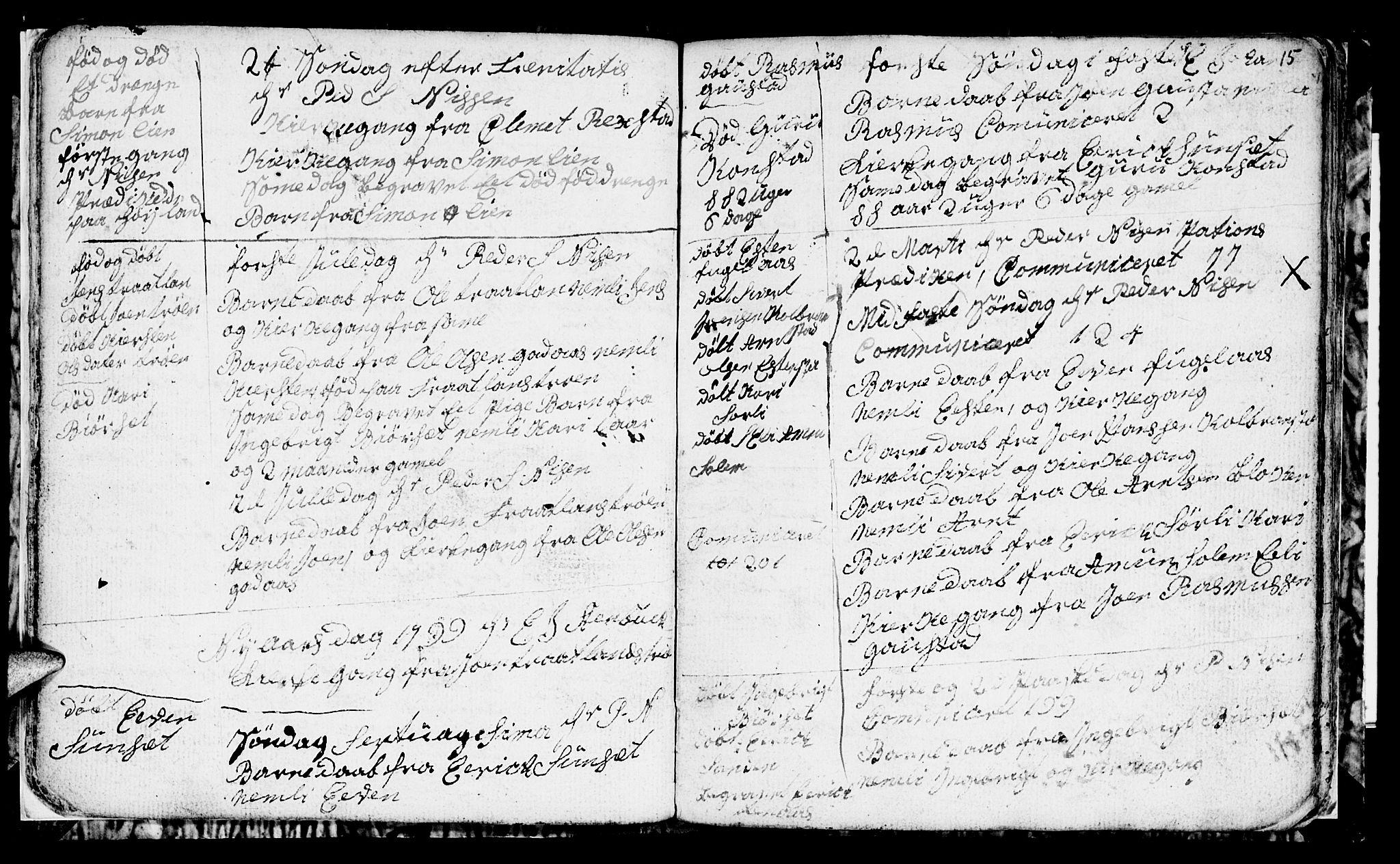 SAT, Ministerialprotokoller, klokkerbøker og fødselsregistre - Sør-Trøndelag, 694/L1129: Klokkerbok nr. 694C01, 1793-1815, s. 15