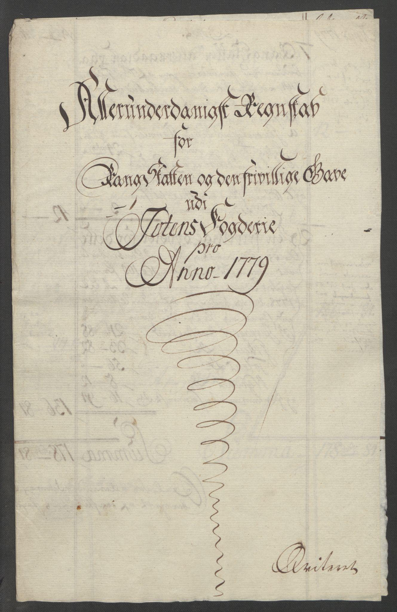 RA, Rentekammeret inntil 1814, Reviderte regnskaper, Fogderegnskap, R19/L1399: Fogderegnskap Toten, Hadeland og Vardal, 1762-1783, s. 496