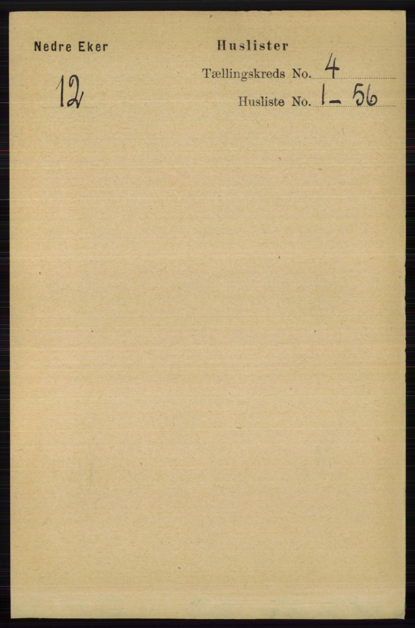 RA, Folketelling 1891 for 0625 Nedre Eiker herred, 1891, s. 1882