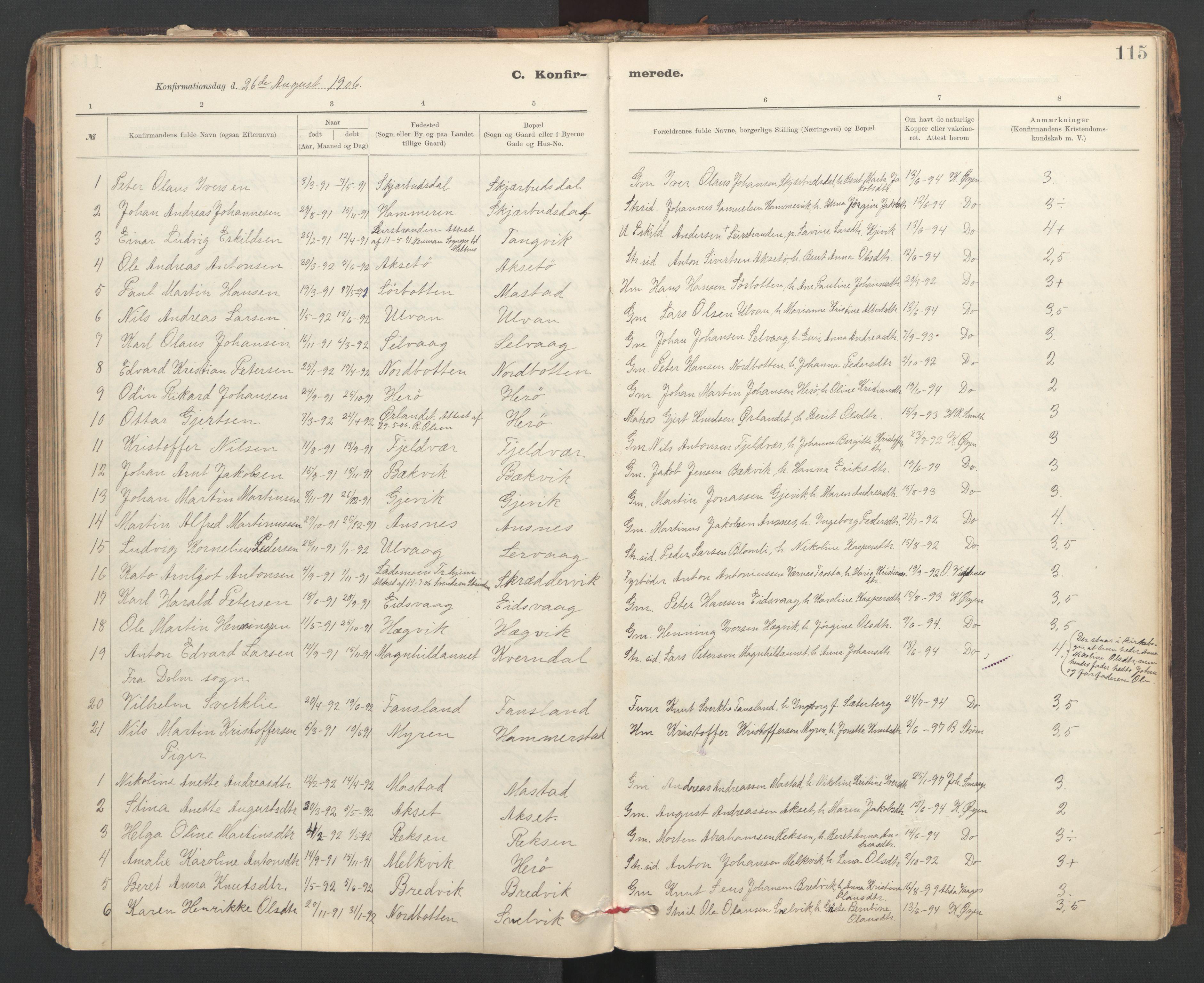 SAT, Ministerialprotokoller, klokkerbøker og fødselsregistre - Sør-Trøndelag, 637/L0559: Ministerialbok nr. 637A02, 1899-1923, s. 115