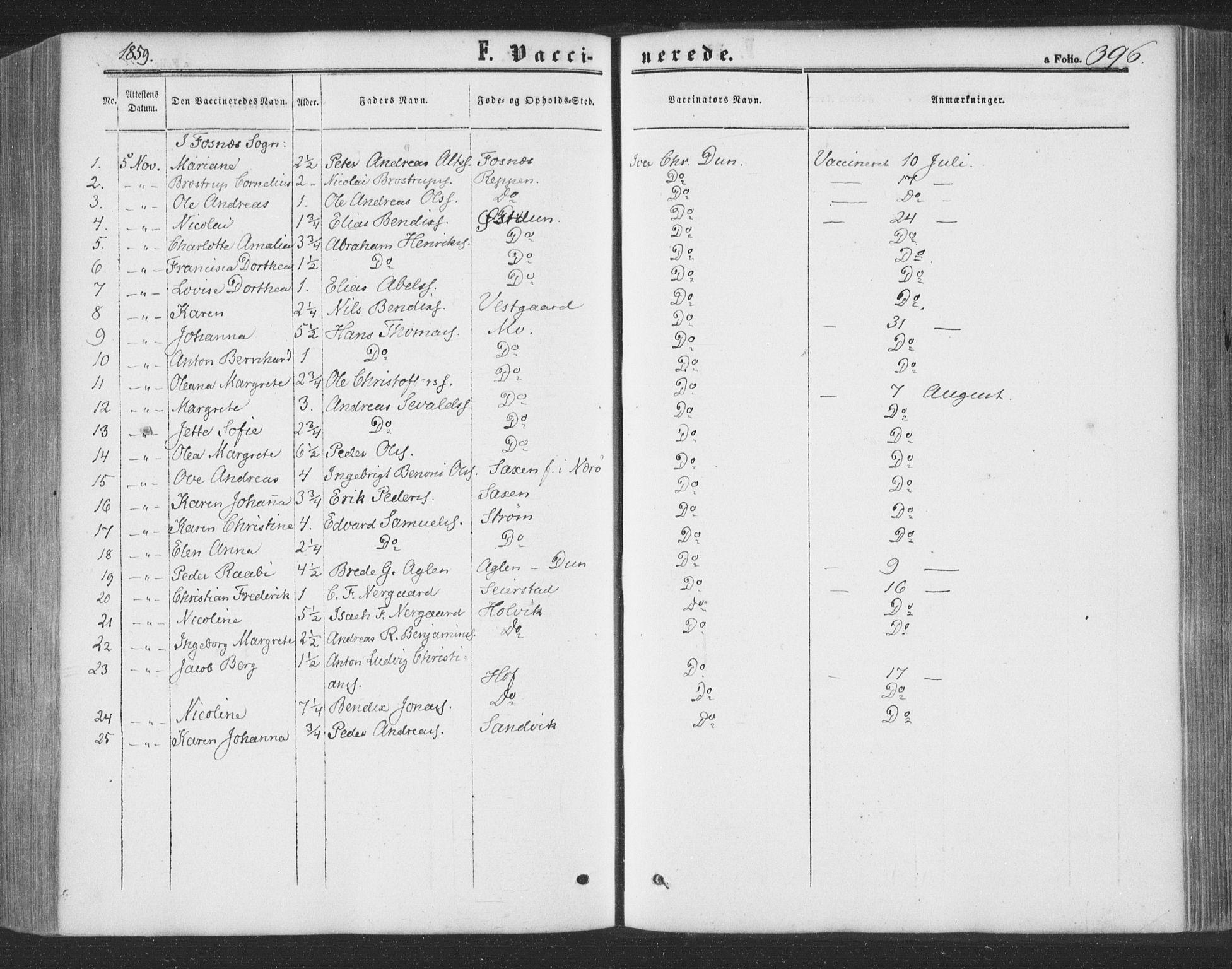 SAT, Ministerialprotokoller, klokkerbøker og fødselsregistre - Nord-Trøndelag, 773/L0615: Ministerialbok nr. 773A06, 1857-1870, s. 396