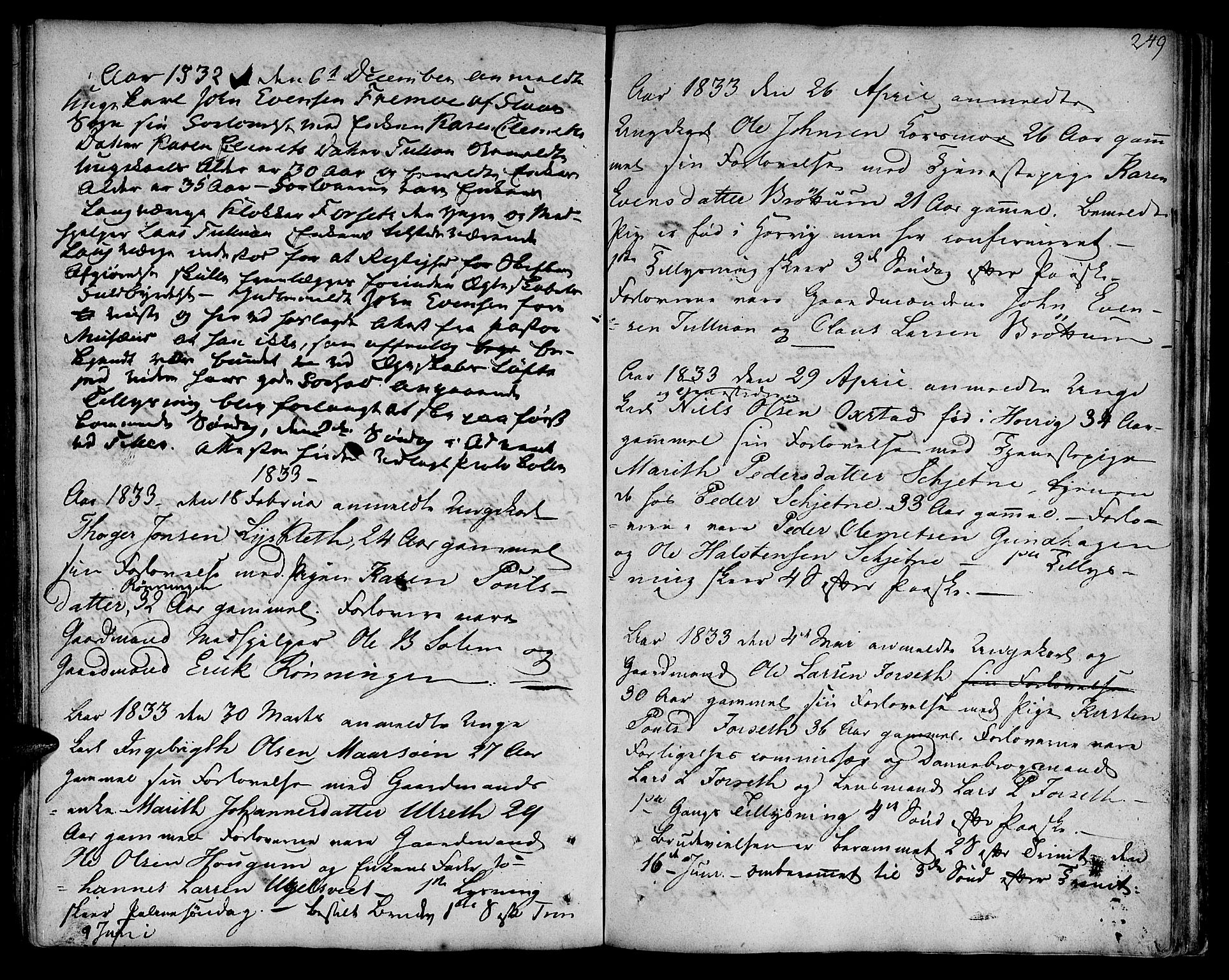 SAT, Ministerialprotokoller, klokkerbøker og fødselsregistre - Sør-Trøndelag, 618/L0438: Ministerialbok nr. 618A03, 1783-1815, s. 249