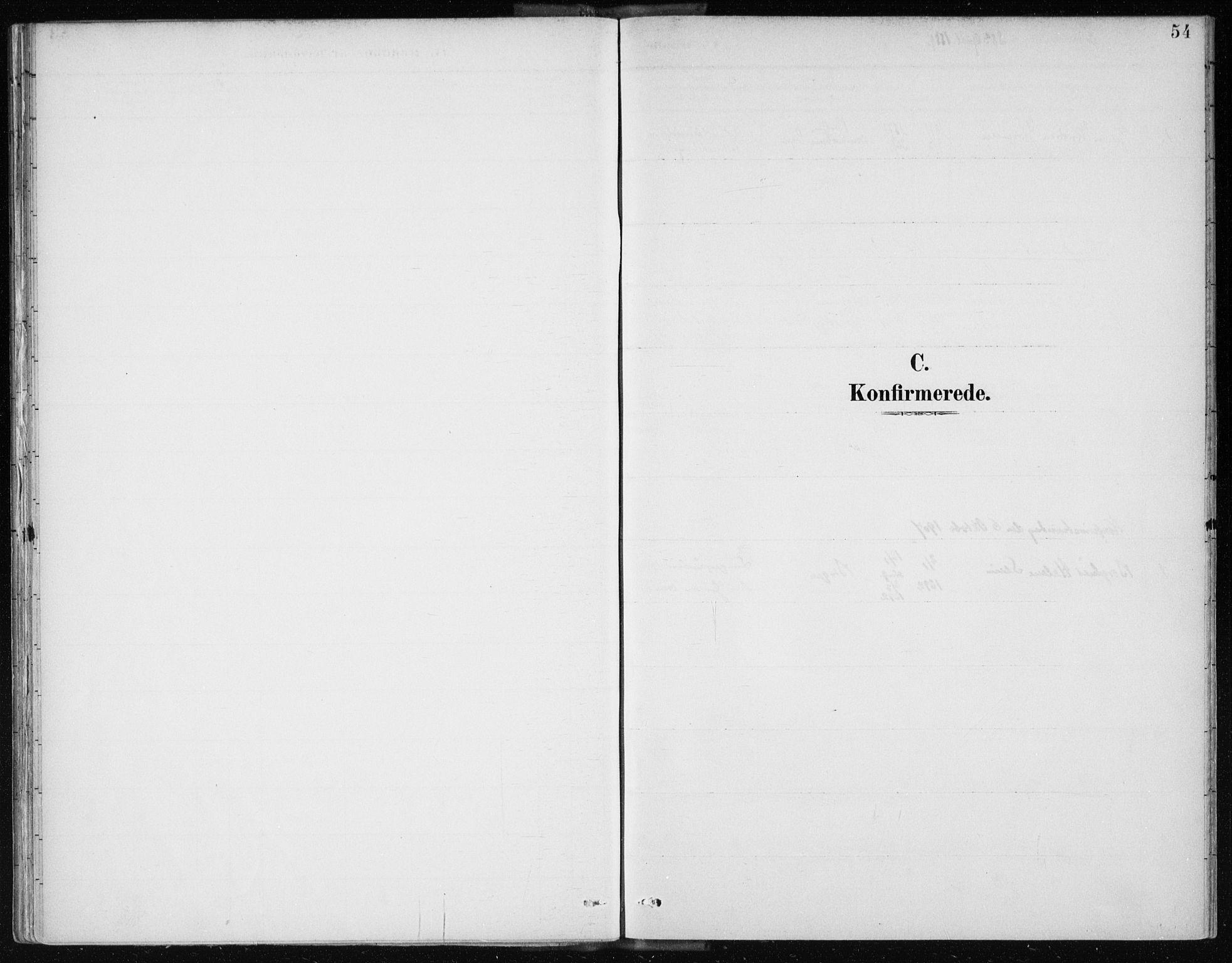 SAB, Arkivreferanse mangler*, Ministerialbok nr. A 2, 1887-1939, s. 54