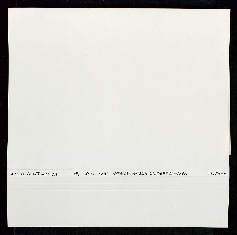 SAST, Industridepartementet, Oljekontoret, Da/L0006:  Arkivnøkkel 714 Vitenskapelige undersøkelser, 1963-1973, s. 344