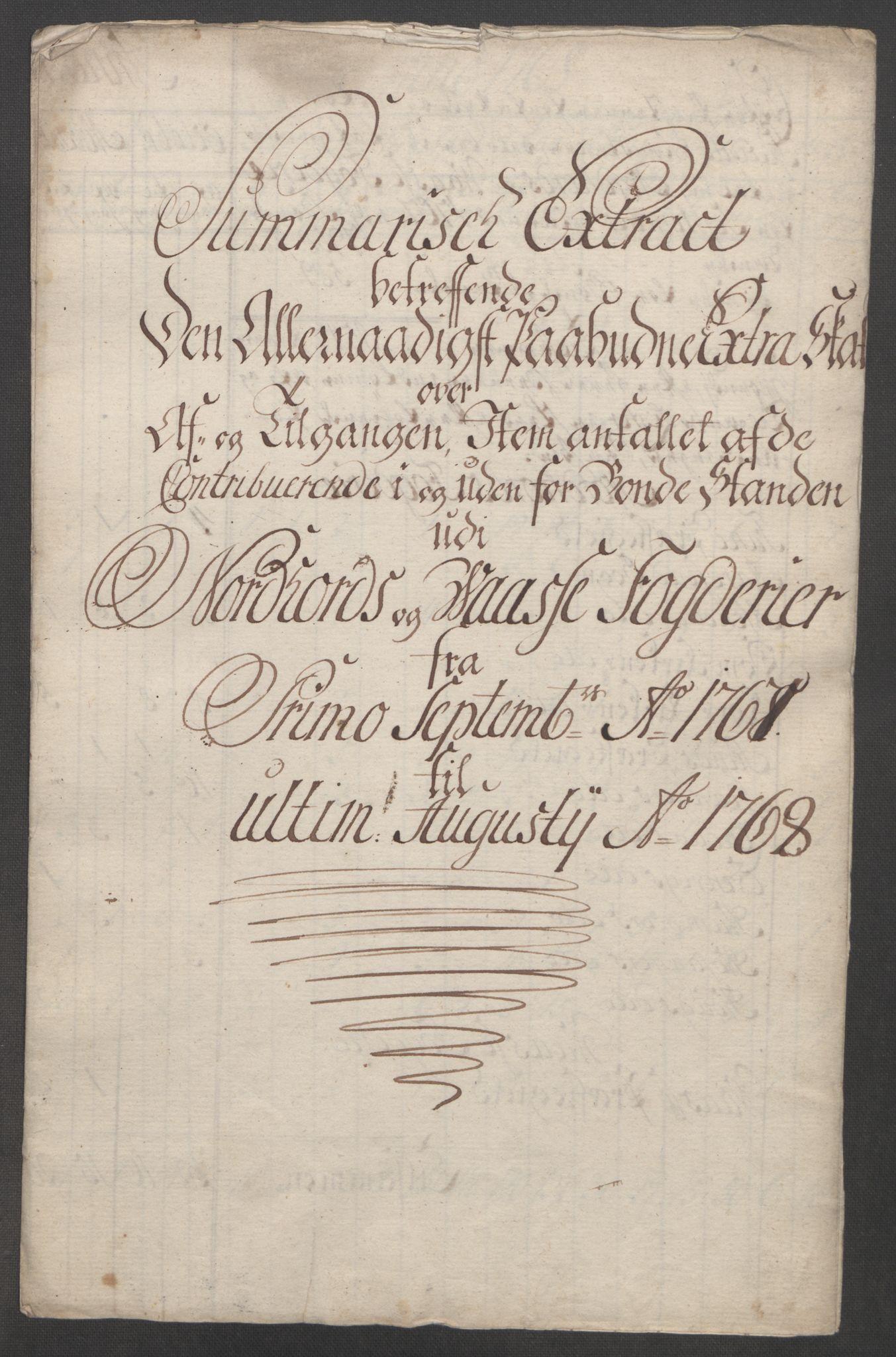 RA, Rentekammeret inntil 1814, Reviderte regnskaper, Fogderegnskap, R51/L3303: Ekstraskatten Nordhordland og Voss, 1762-1772, s. 174