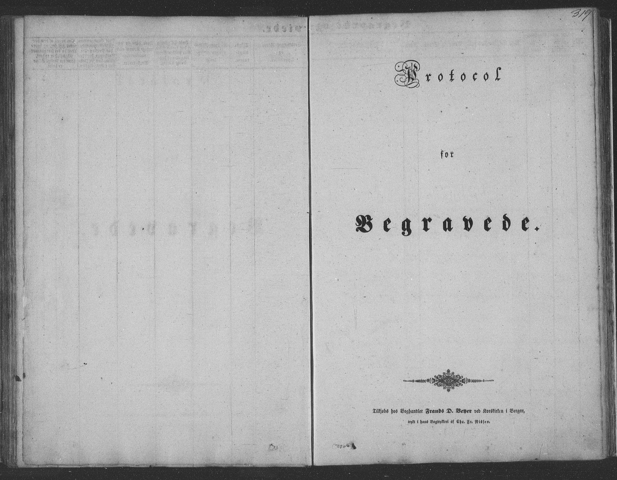 SAB, Haus Sokneprestembete, H/Haa: Ministerialbok nr. A 16 II, 1848-1857, s. 319