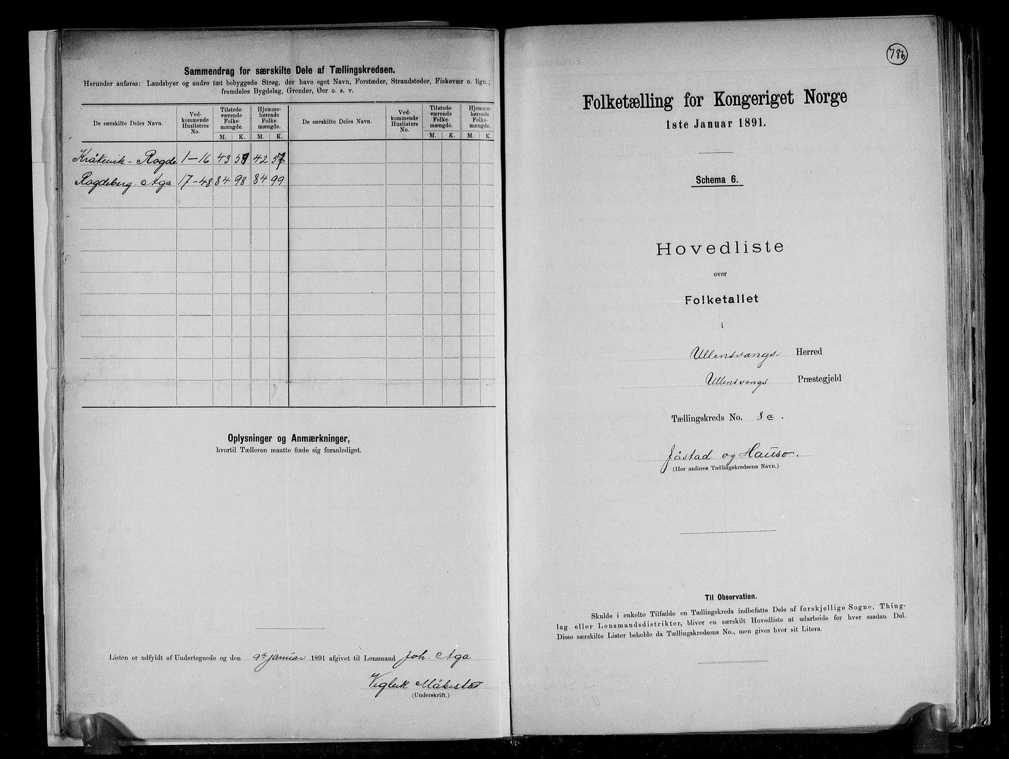 RA, Folketelling 1891 for 1230 Ullensvang herred, 1891, s. 22