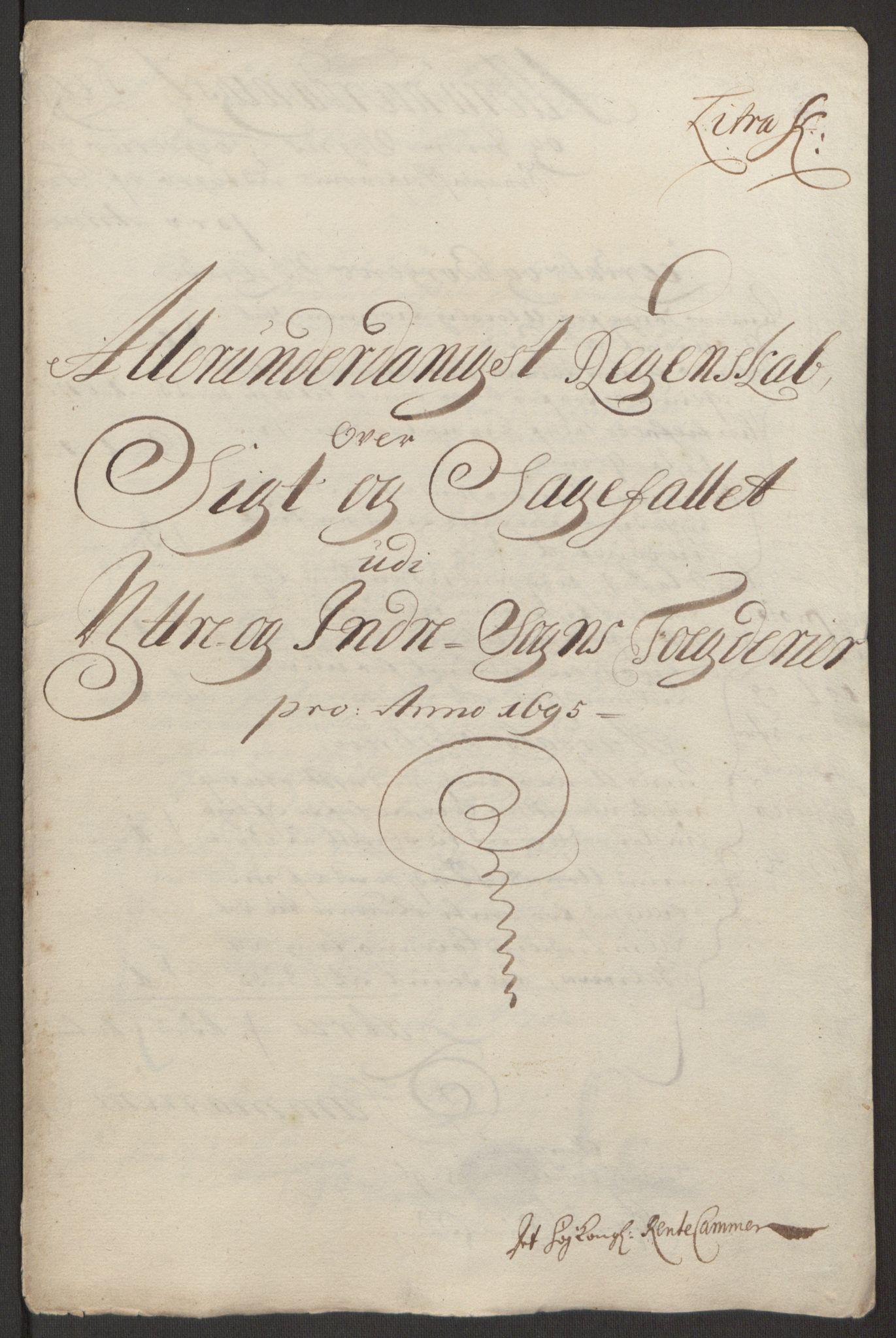 RA, Rentekammeret inntil 1814, Reviderte regnskaper, Fogderegnskap, R52/L3308: Fogderegnskap Sogn, 1695, s. 317