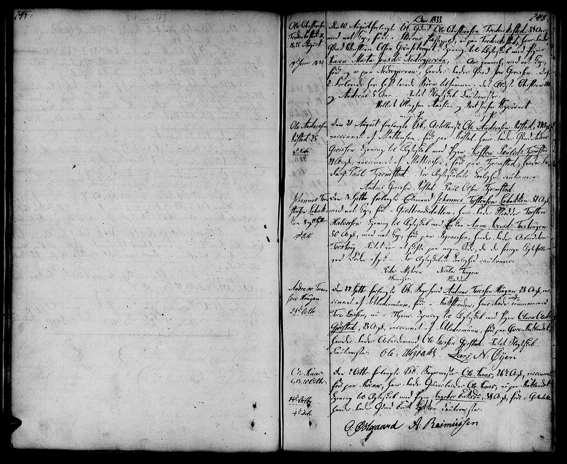 SAT, Ministerialprotokoller, klokkerbøker og fødselsregistre - Sør-Trøndelag, 604/L0181: Ministerialbok nr. 604A02, 1798-1817, s. 247-248