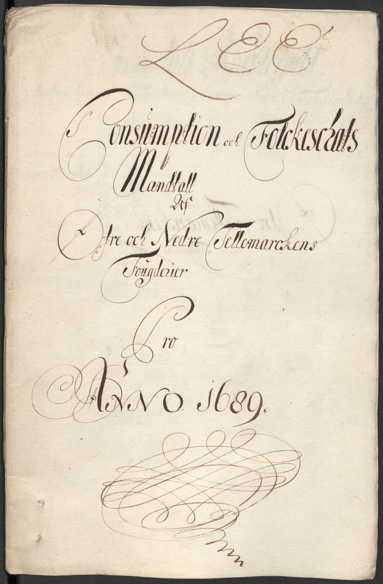 RA, Rentekammeret inntil 1814, Reviderte regnskaper, Fogderegnskap, R35/L2088: Fogderegnskap Øvre og Nedre Telemark, 1687-1689, s. 47