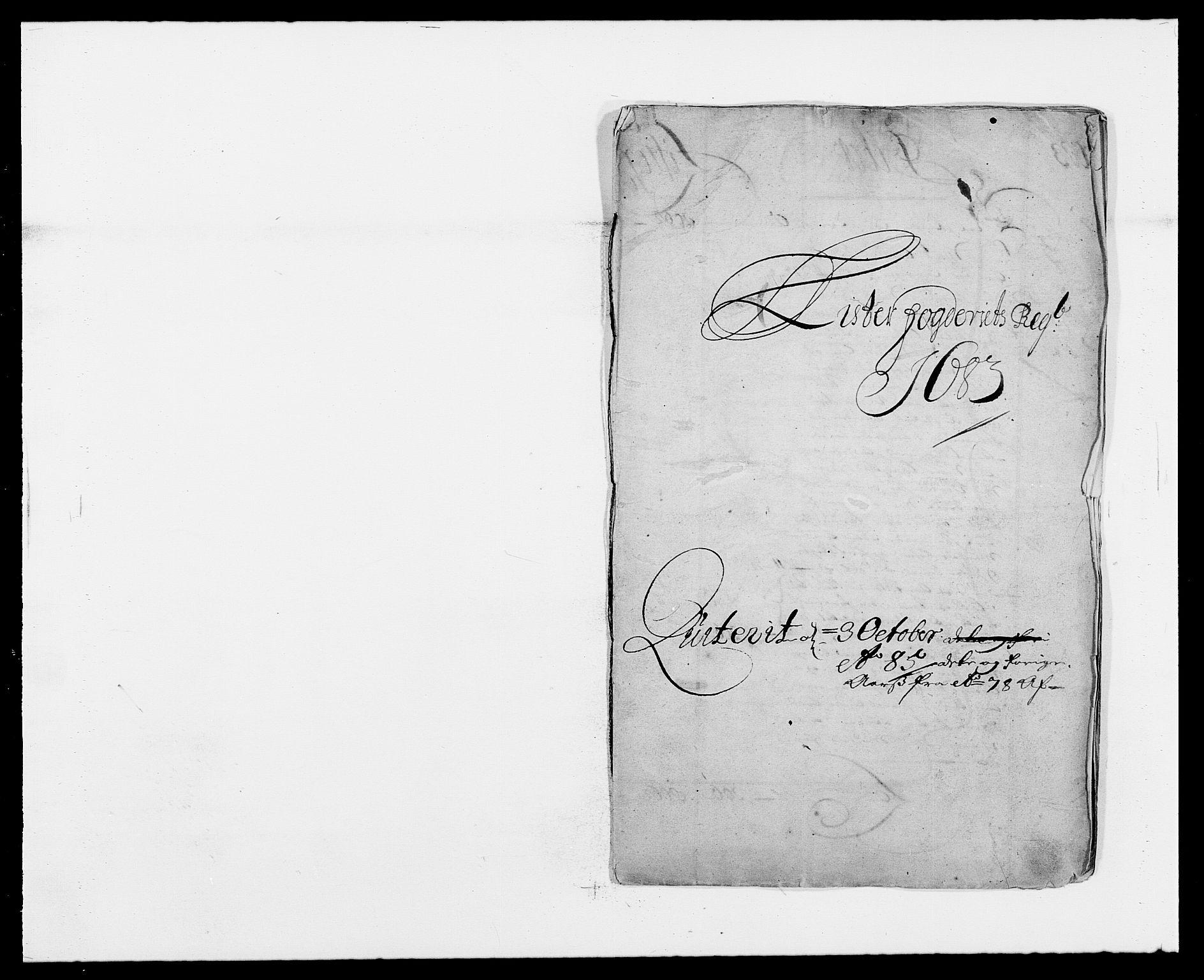RA, Rentekammeret inntil 1814, Reviderte regnskaper, Fogderegnskap, R41/L2532: Fogderegnskap Lista, 1683, s. 1