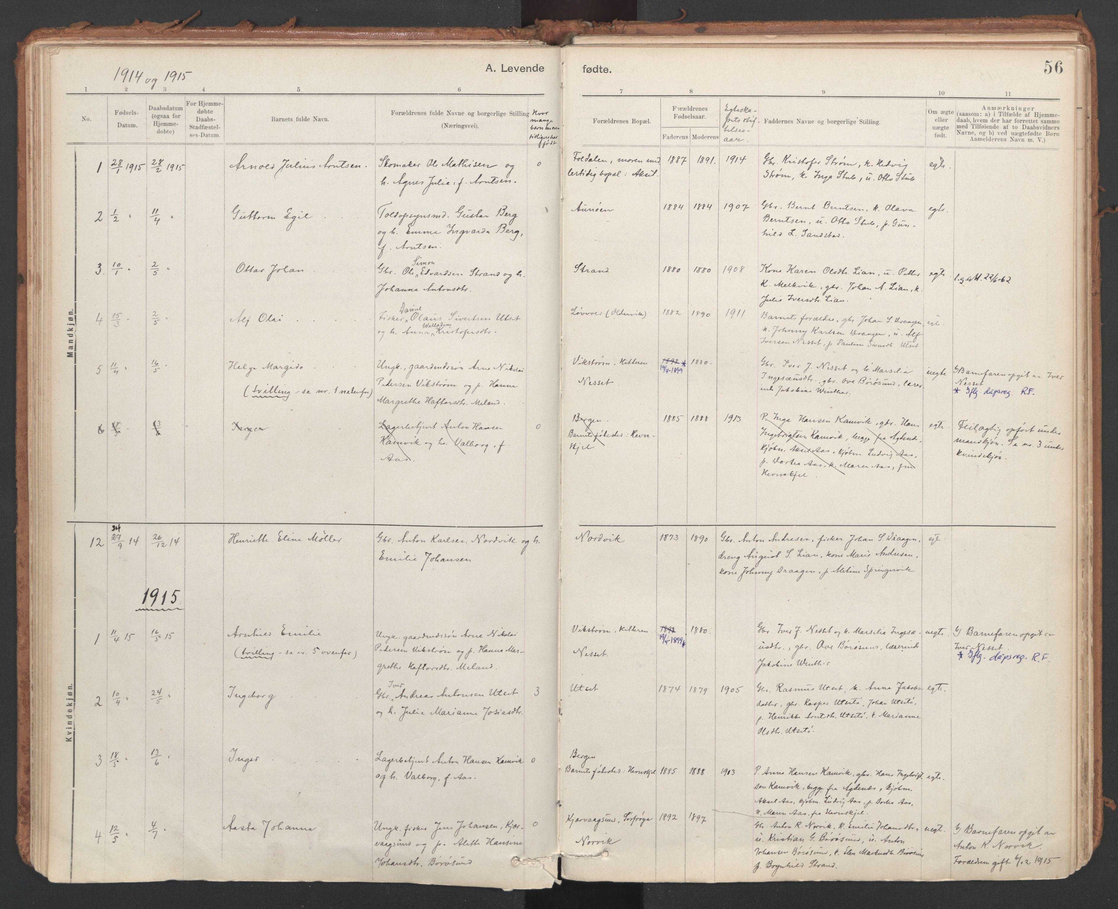 SAT, Ministerialprotokoller, klokkerbøker og fødselsregistre - Sør-Trøndelag, 639/L0572: Ministerialbok nr. 639A01, 1890-1920, s. 56
