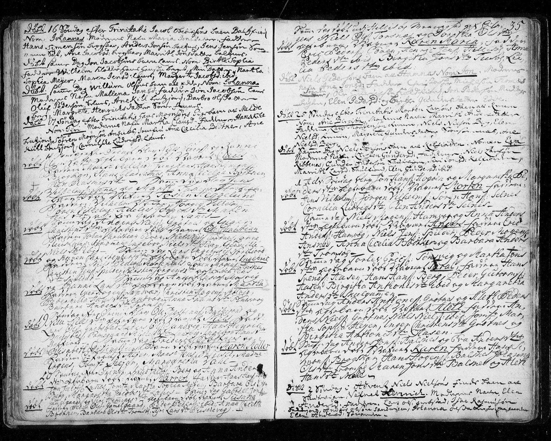 SATØ, Tromsø sokneprestkontor/stiftsprosti/domprosti, G/Ga/L0002kirke: Ministerialbok nr. 2, 1753-1778, s. 35