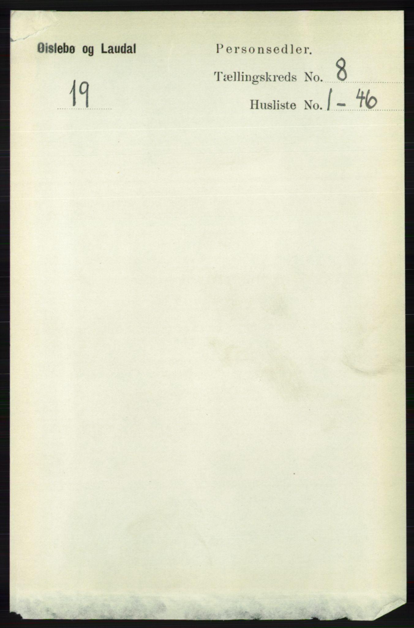 RA, Folketelling 1891 for 1021 Øyslebø og Laudal herred, 1891, s. 2104