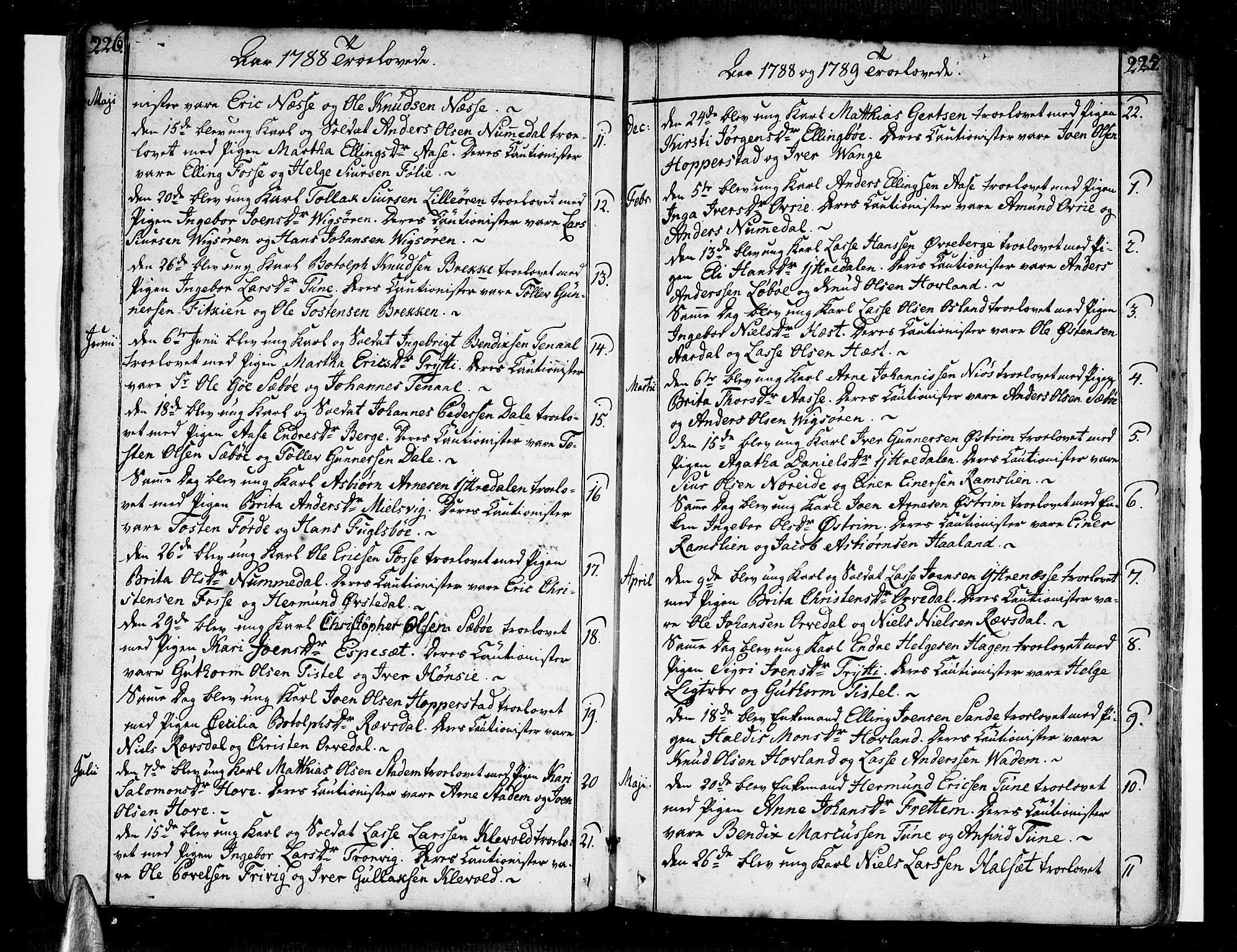 SAB, Vik Sokneprestembete, Ministerialbok nr. A 5, 1787-1820, s. 226-227