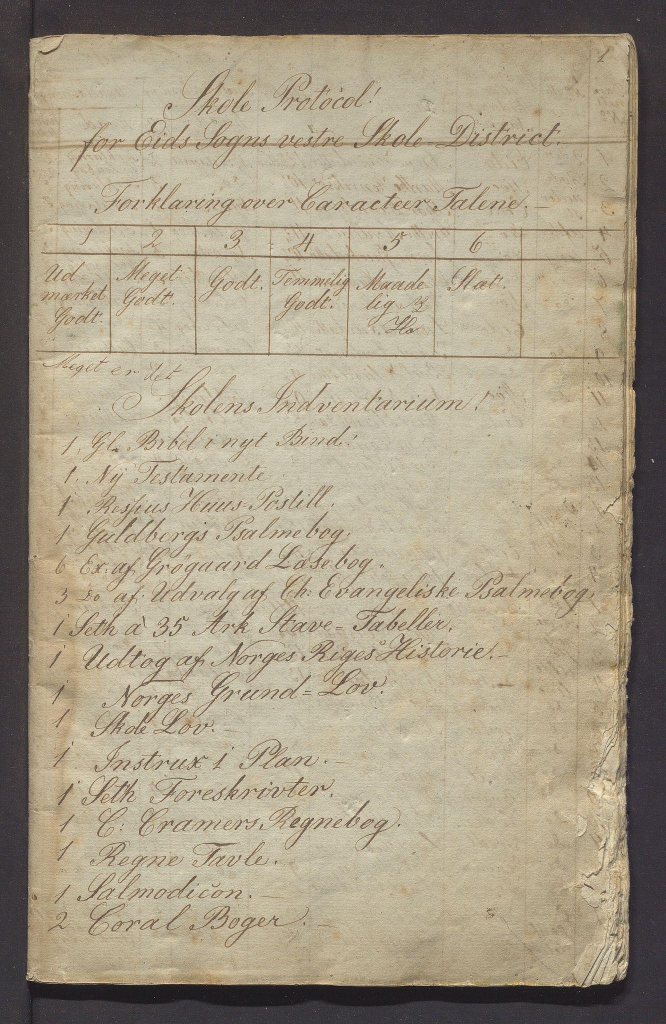 IKAH, Fjelberg kommune. Barneskulane, F/Fb/L0001: Skuleprotokoll for vestre distrikt i Eid sokn, 1839-1849