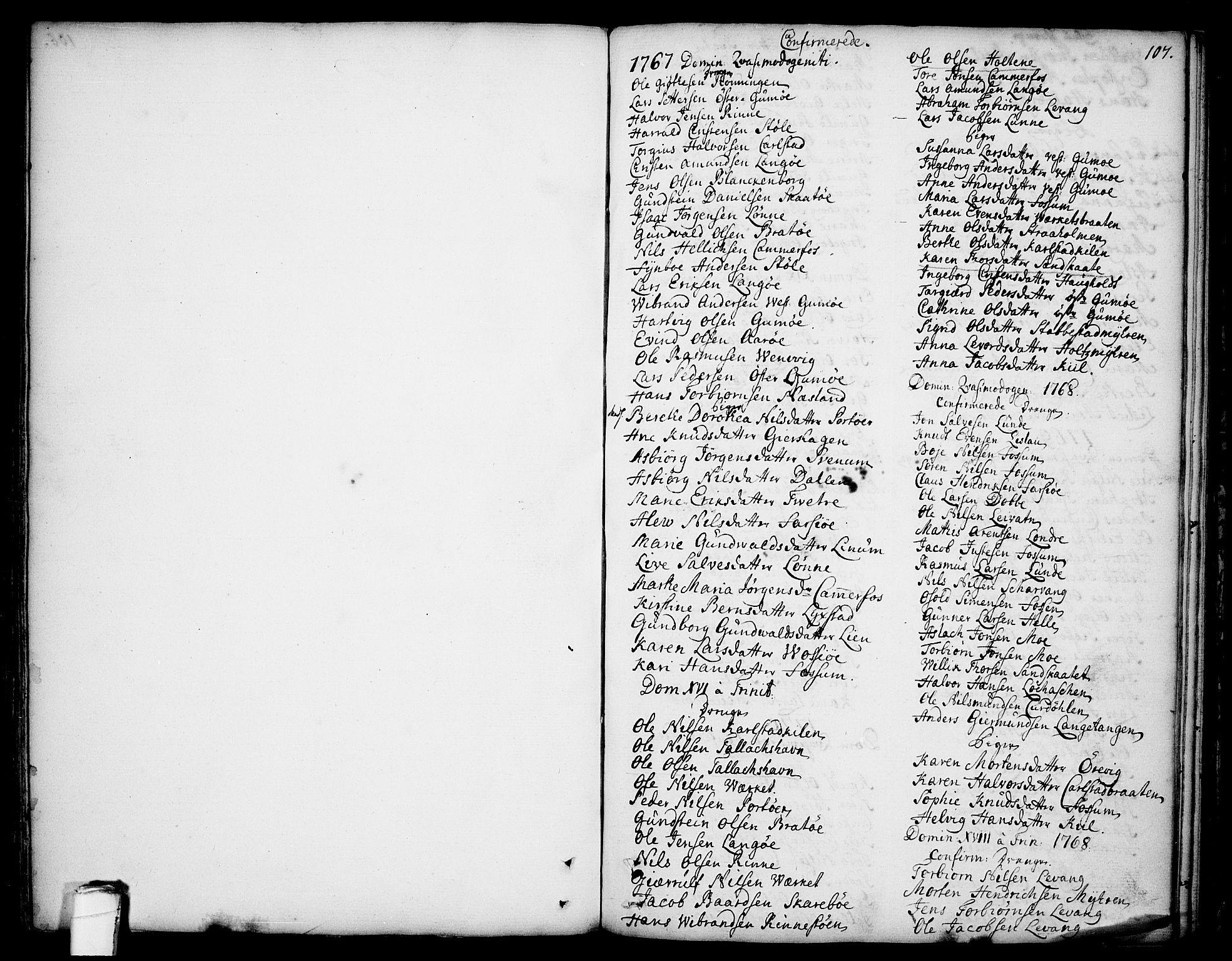 SAKO, Sannidal kirkebøker, F/Fa/L0002: Ministerialbok nr. 2, 1767-1802, s. 107