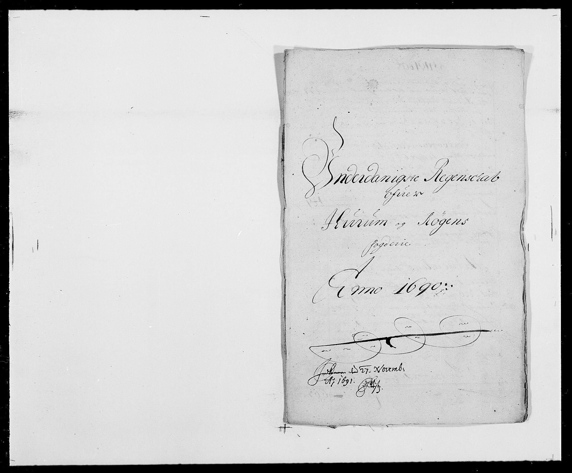 RA, Rentekammeret inntil 1814, Reviderte regnskaper, Fogderegnskap, R29/L1693: Fogderegnskap Hurum og Røyken, 1688-1693, s. 141